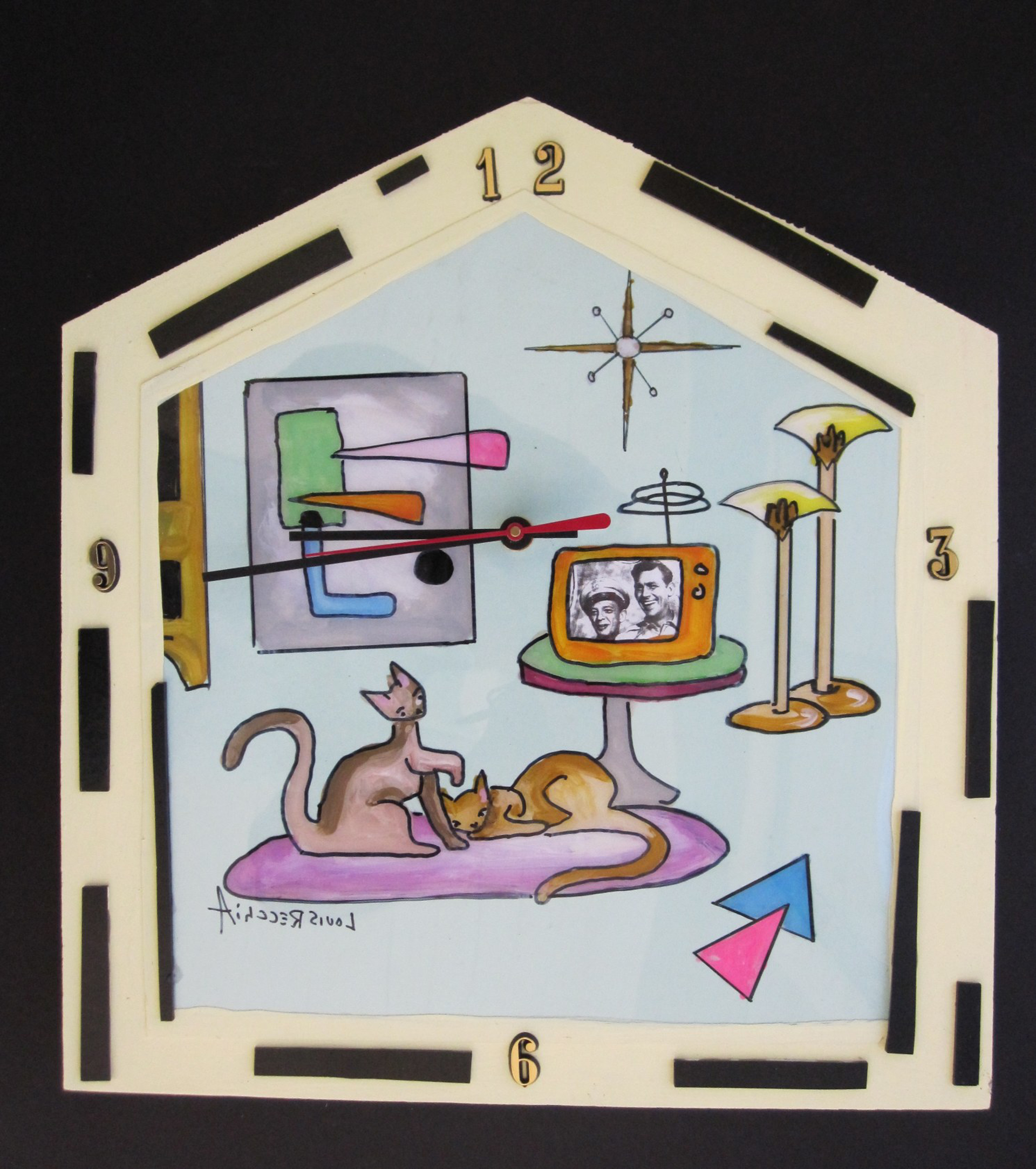 Modern Apartment Clock by Louis Recchia