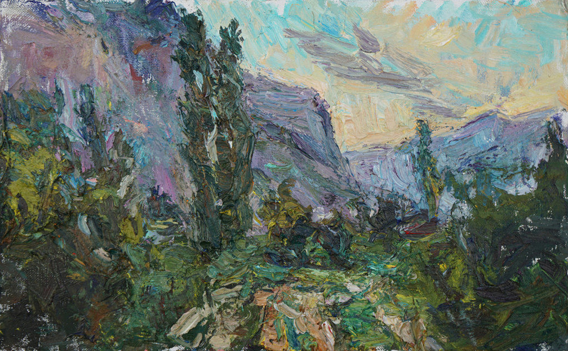 Southern Landscape (Sunrise in the Caucasus) by Ulrich Gleiter