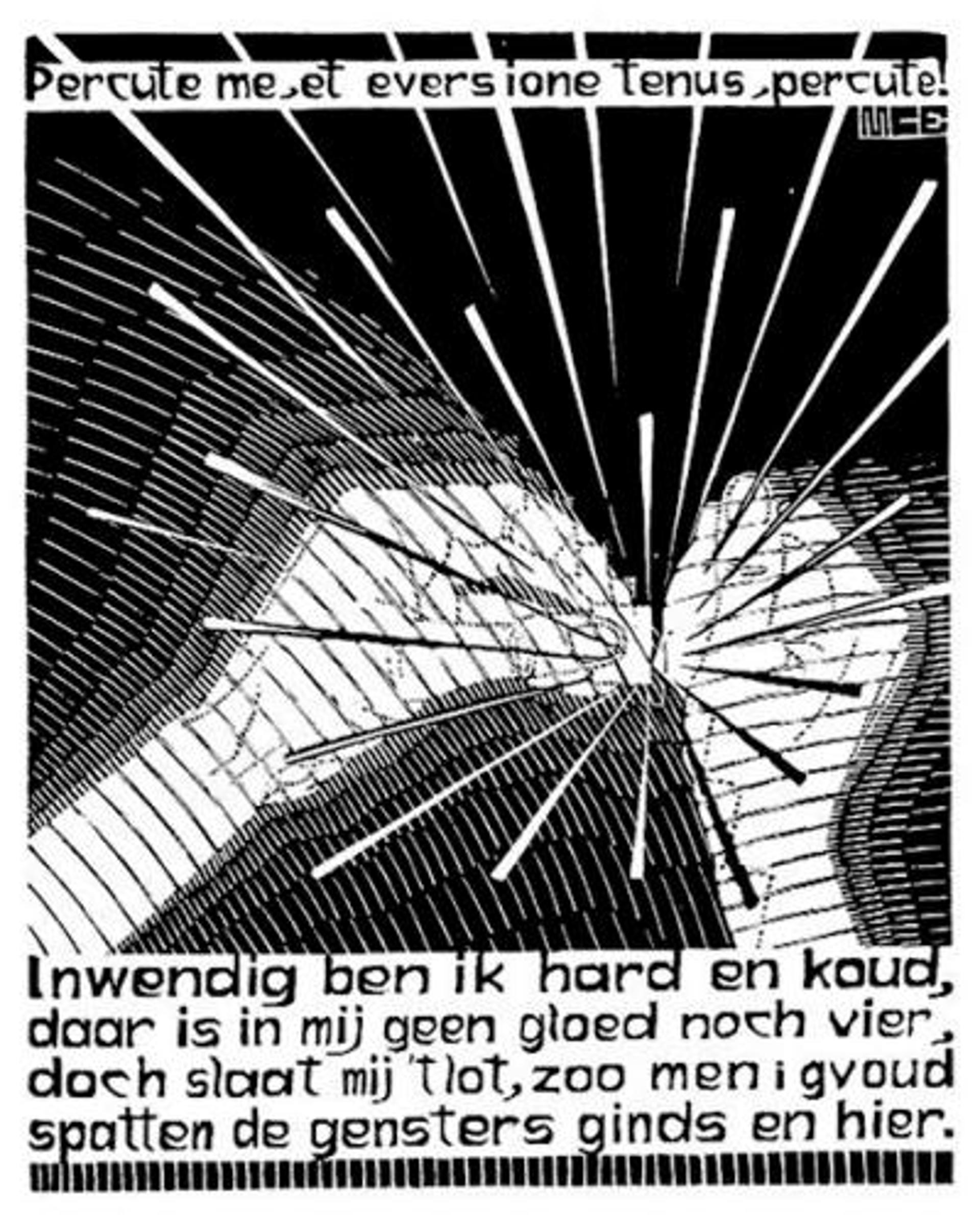 Emblemata - Flint by M.C. Escher