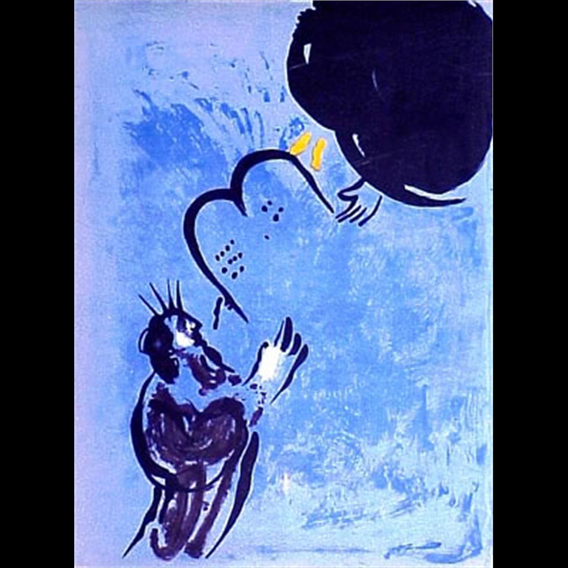 Moses Receiving the Tablets of Law by Marc Chagall