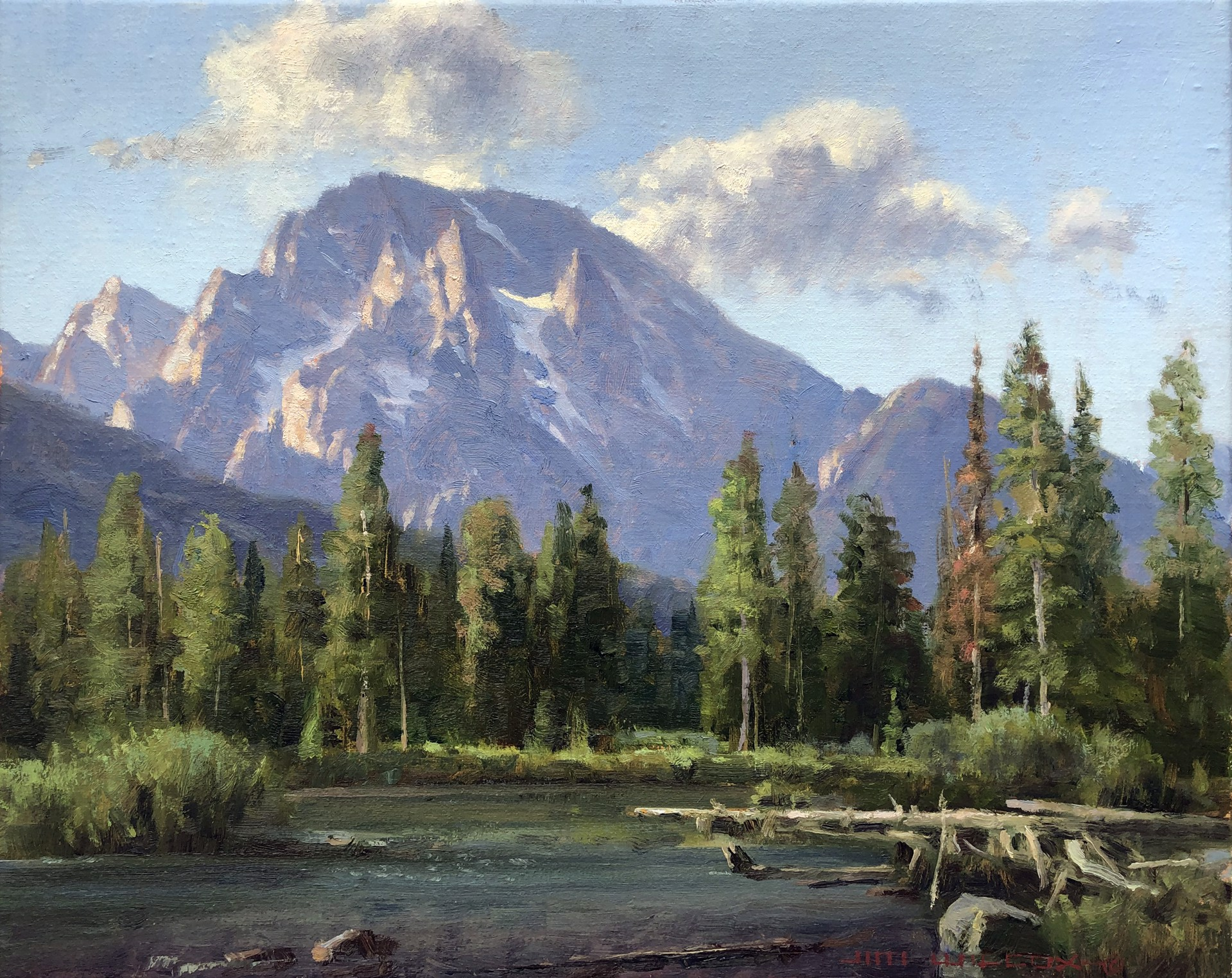 String Lake Outlet by Jim Wilcox