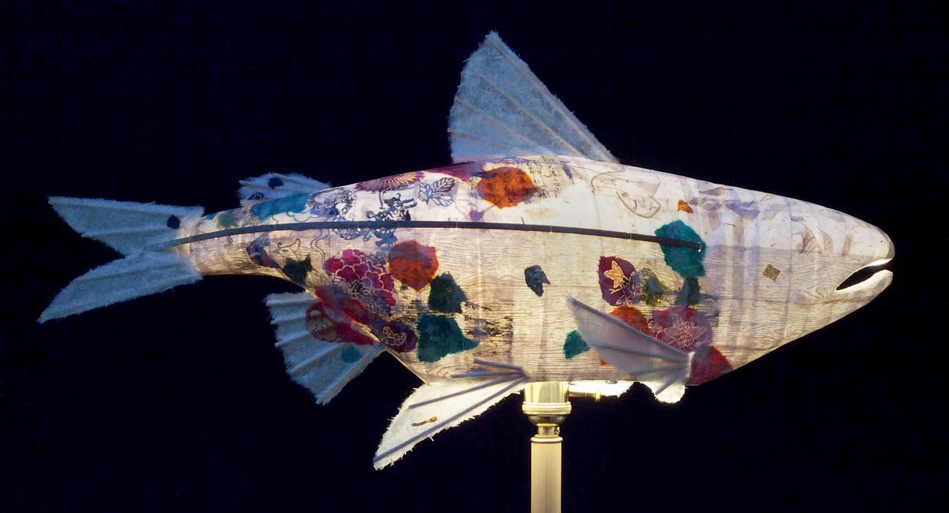 Spring Flower Salmon  by Elaine Hanowell