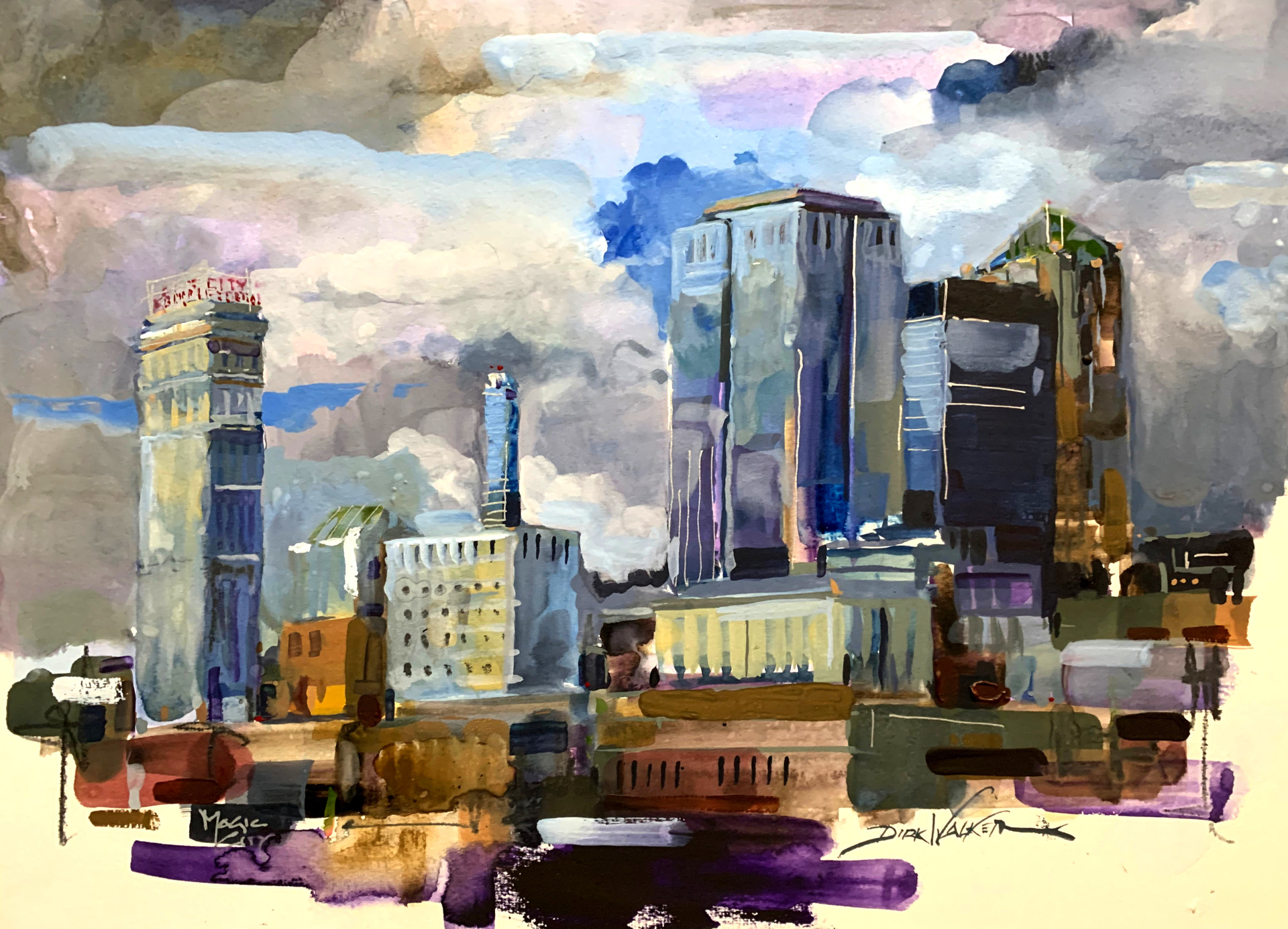 Storm Brewing Over the Magic City by Dirk Walker