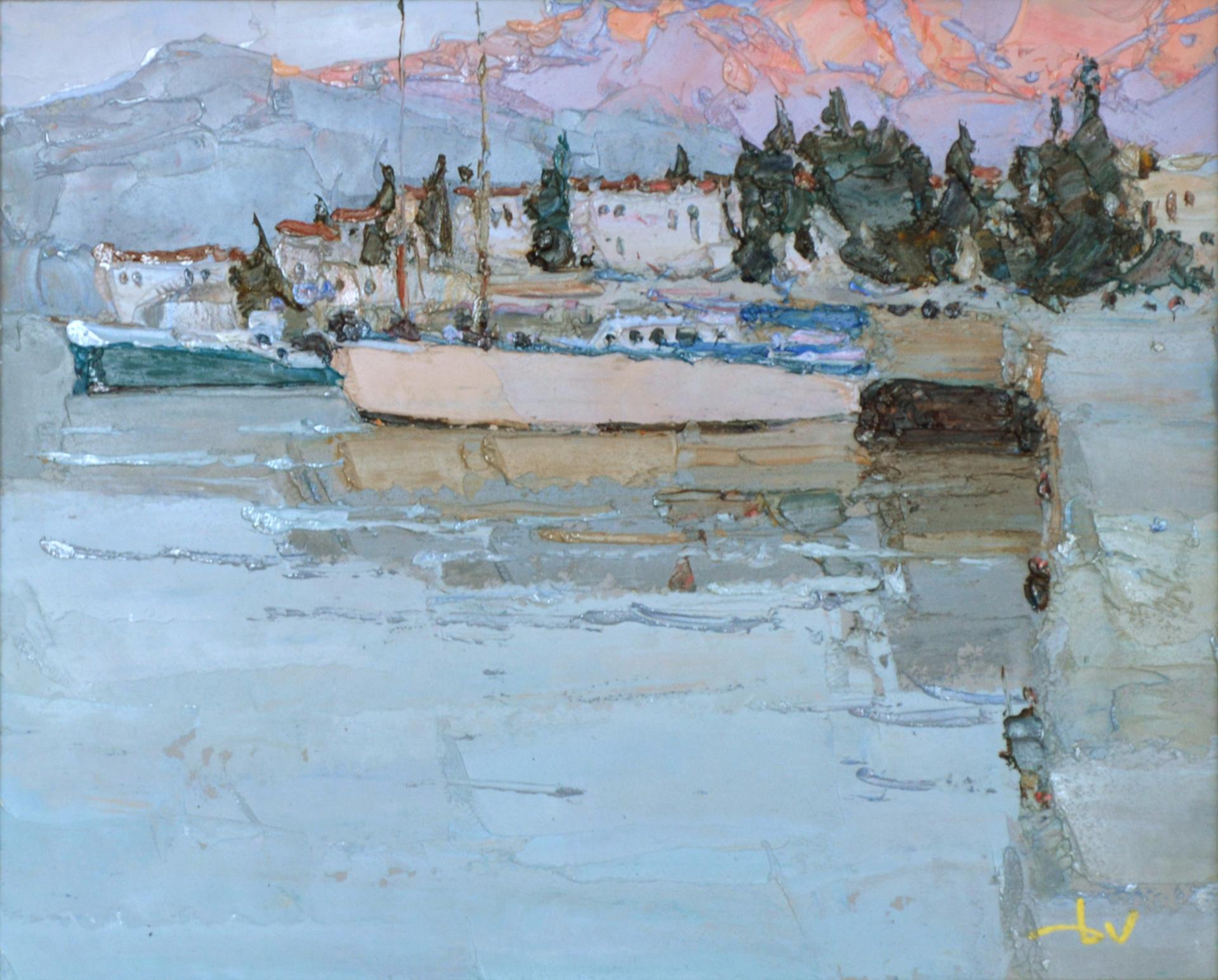 White Yacht by Daniil Volkov