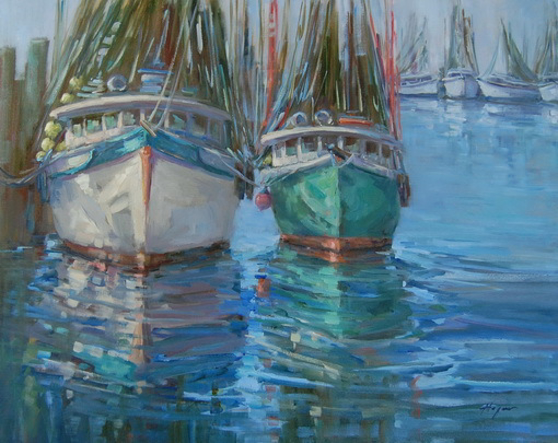 Back at the Docks by Karen Hewitt Hagan