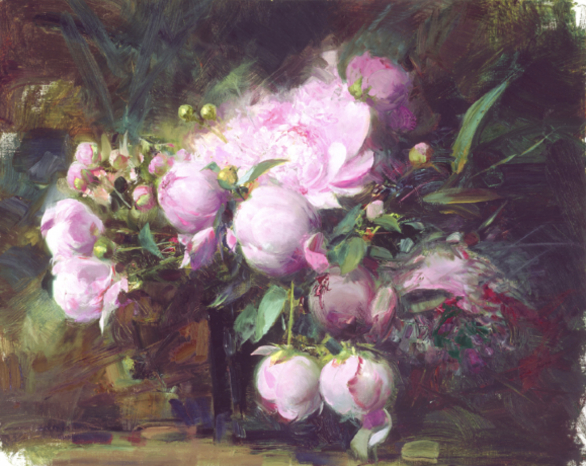 Peonies by Pino