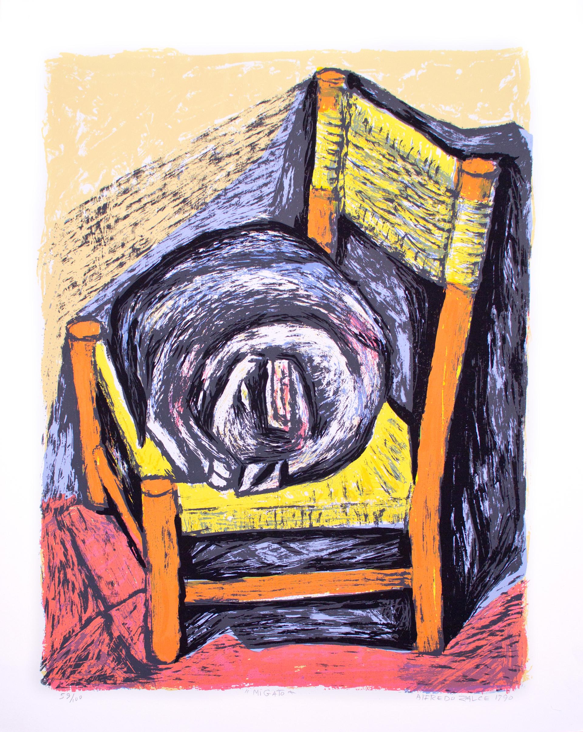 Mi Gato by Alfredo Zalce (1908 - 2003)