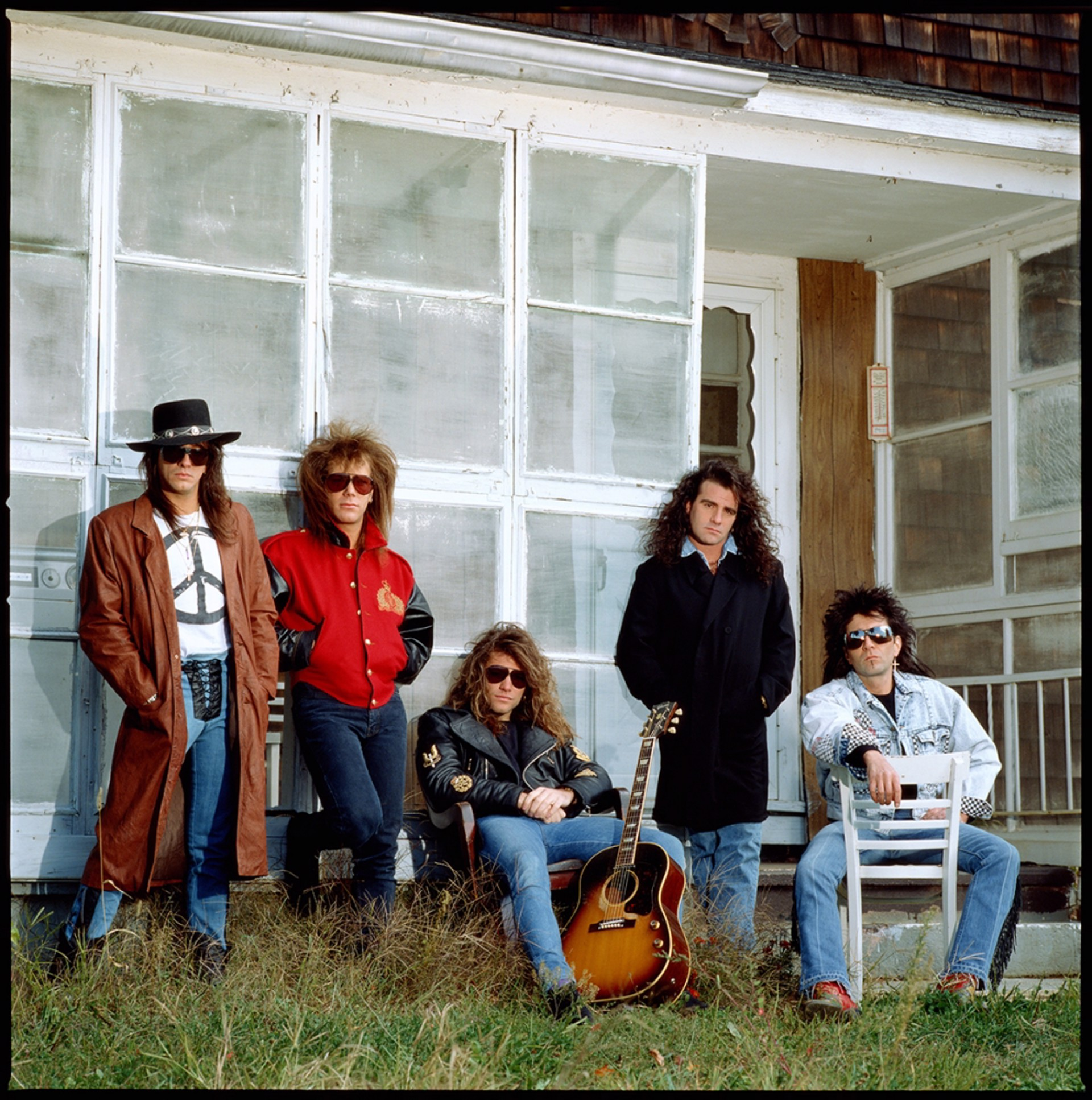 88182 Bon Jovi Band on the Porch Color by Timothy White