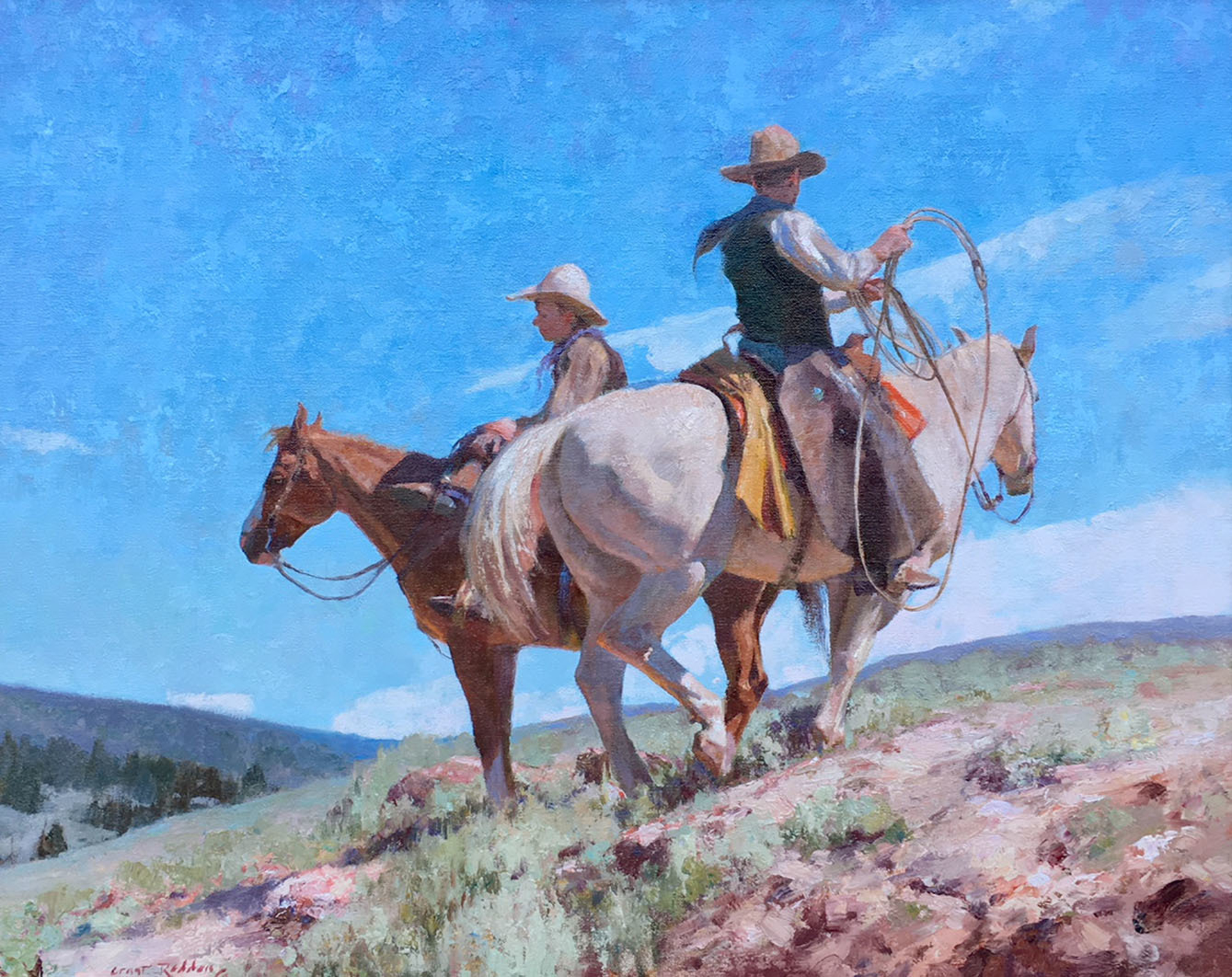 Two Wyoming Cowboys by Grant Redden