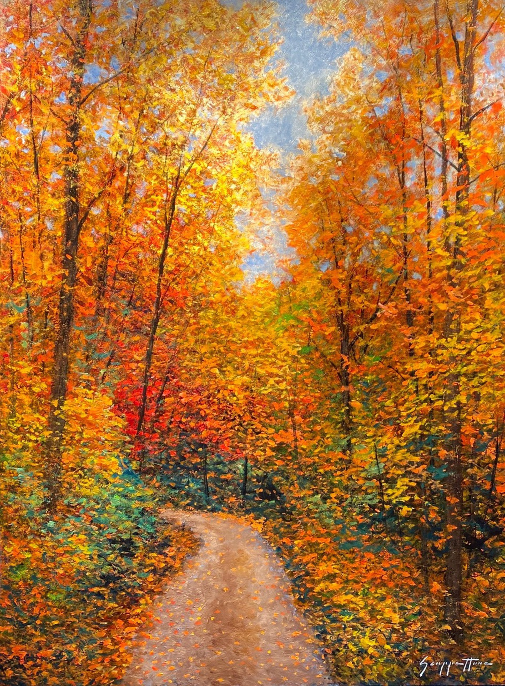 Celebration Lane, Autumn by James Scoppettone