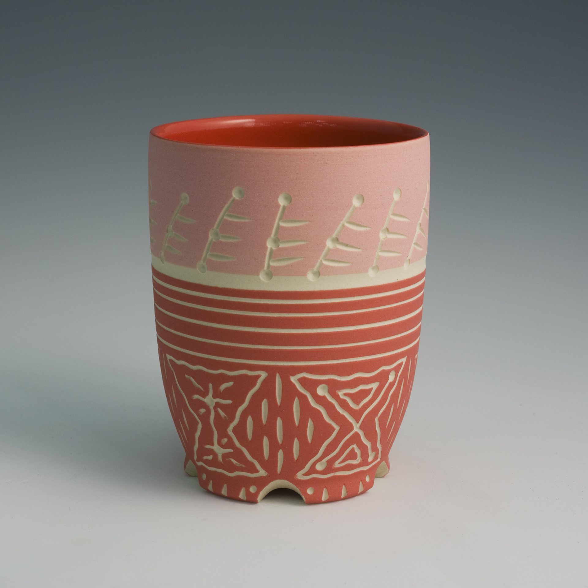 Cup (Red/lines) by Chris Casey