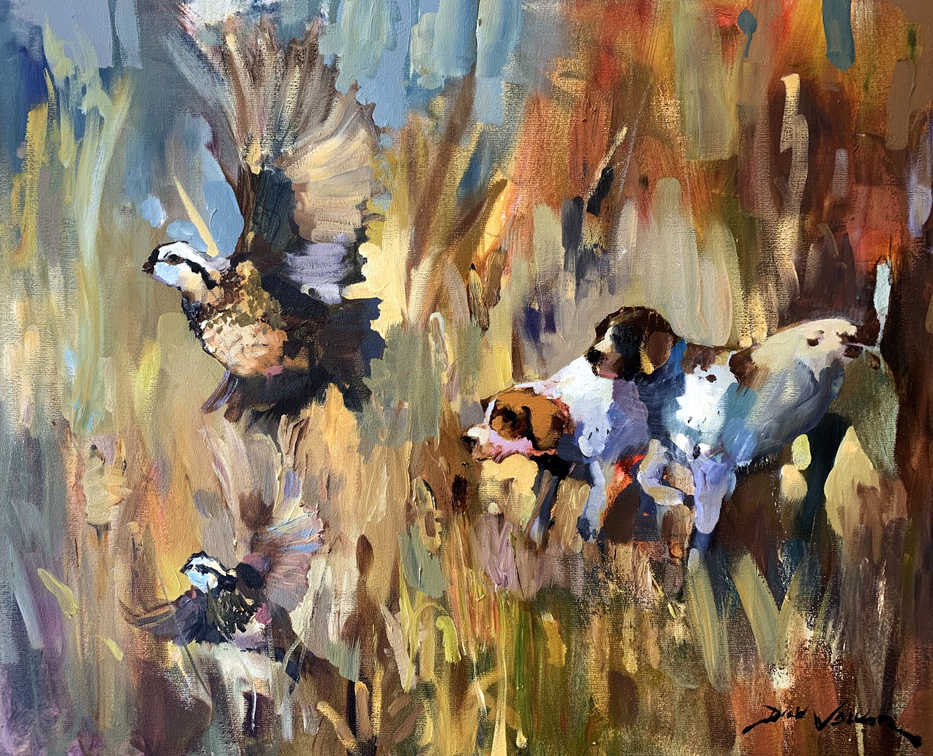 Quail & Pointers by Dirk Walker