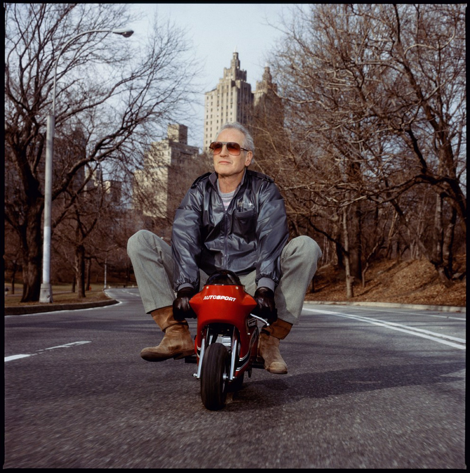 88031 Paul Newman Mini Bike Color by Timothy White