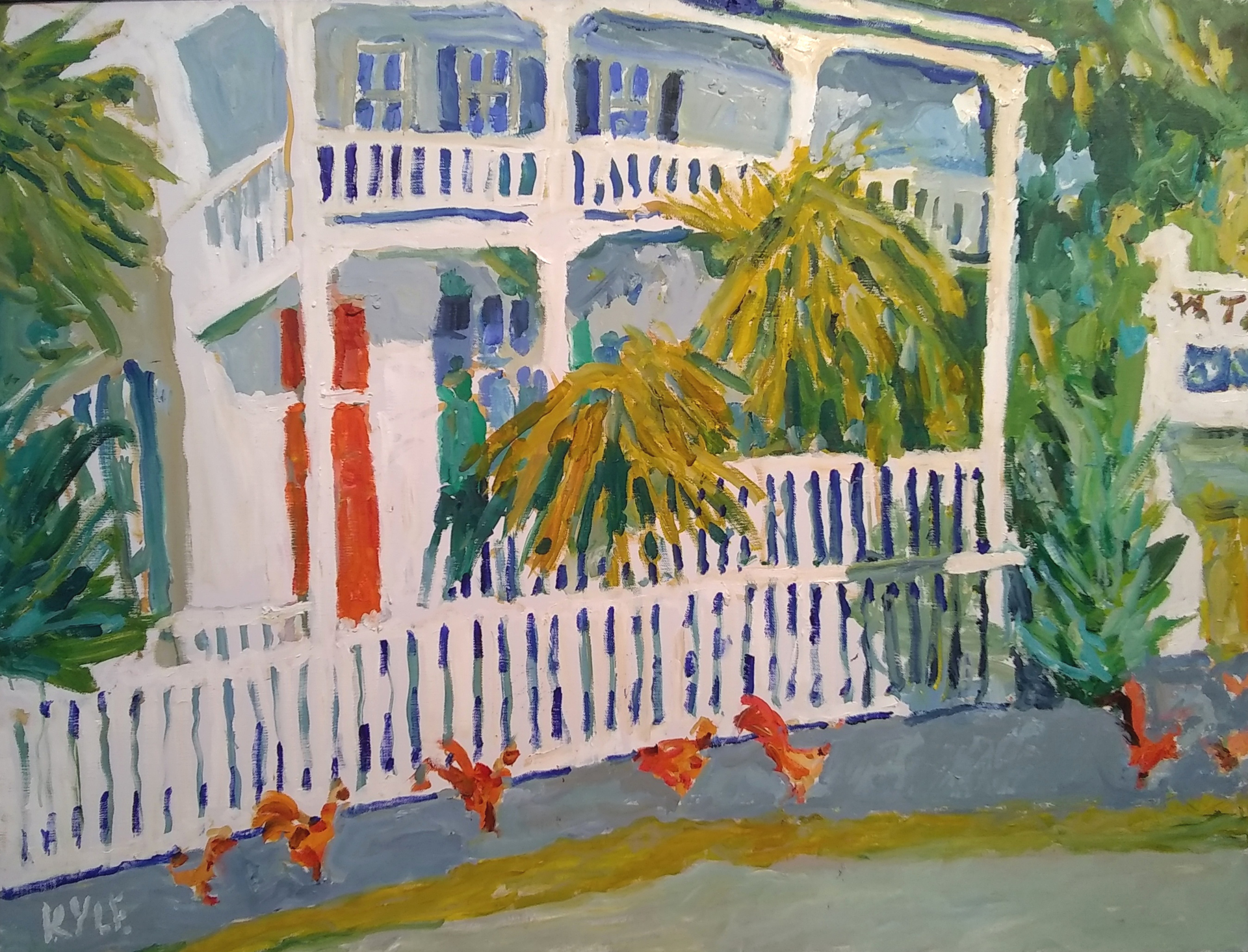Chicken House and Palms on Margaret Street, Key West by Kyle Highsmith