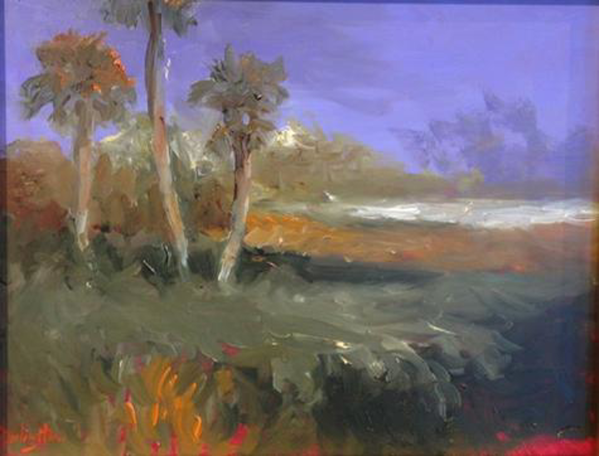Evening Palmettos II by Jim Darlington