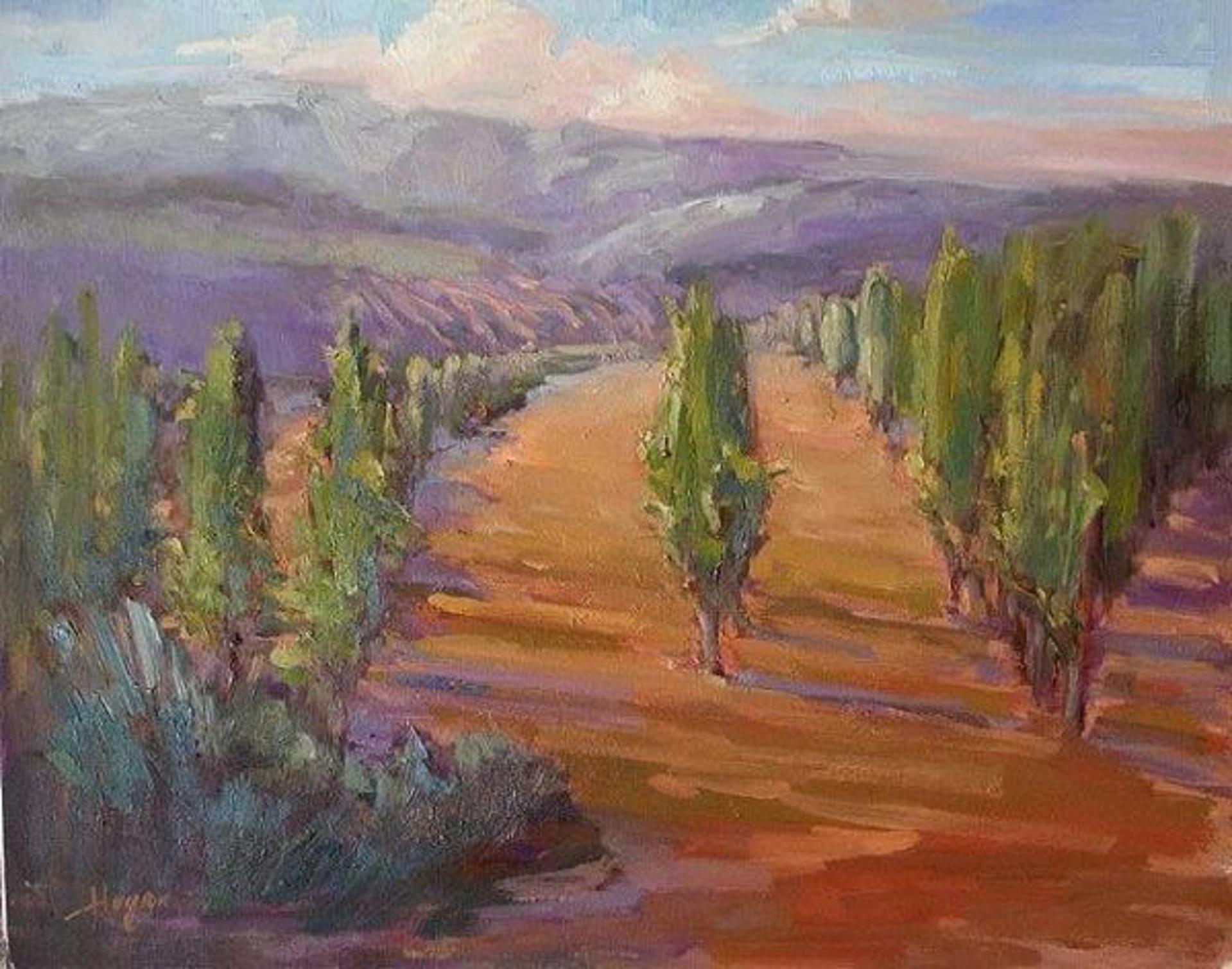 Tuscan Vineyard by Karen Hewitt Hagan