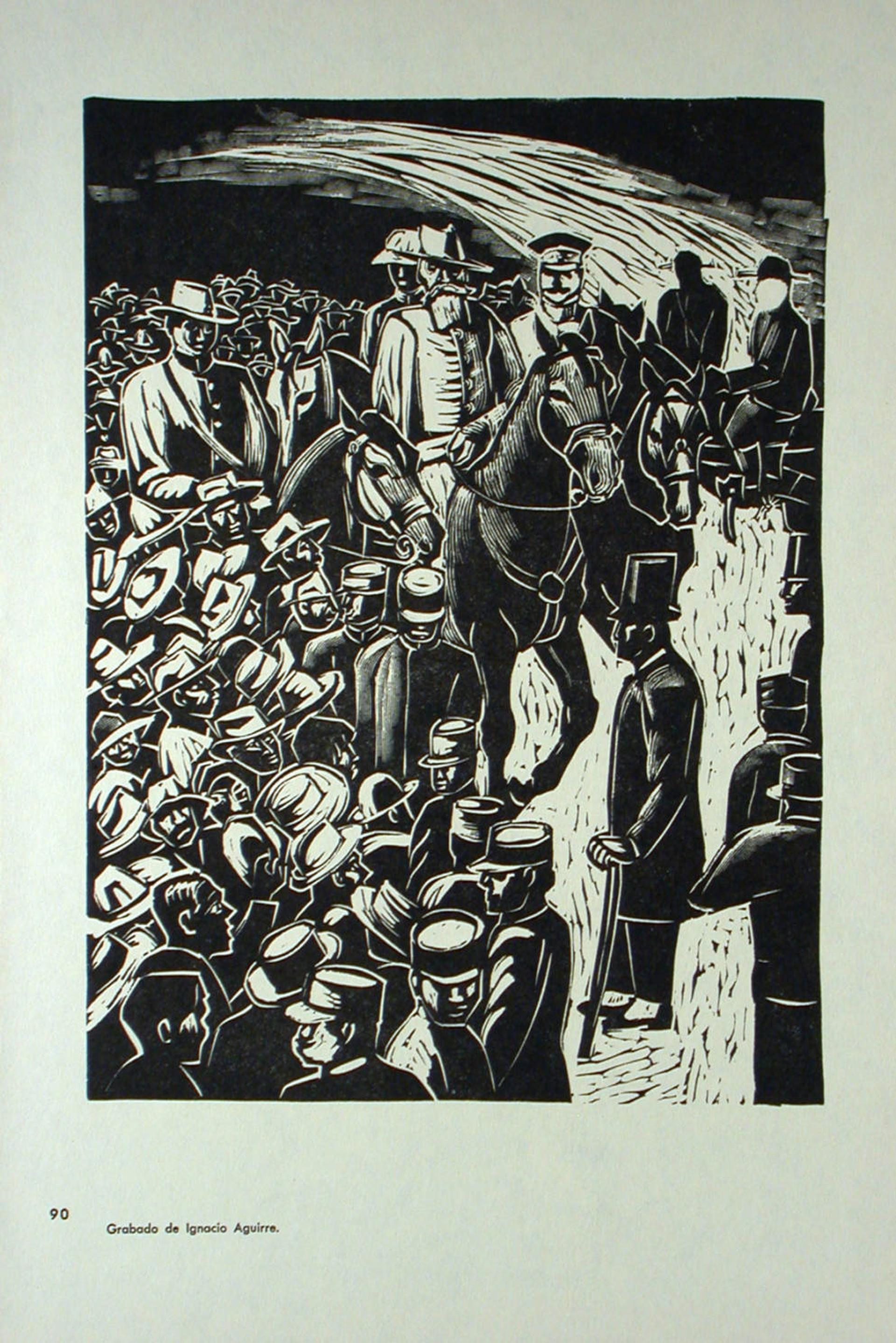La Entrada del Ejercito Constitucionalista en la Ciudad de México. 20 de Agosto de 1914. by Ignacio Aguirre (1900 – 1990)