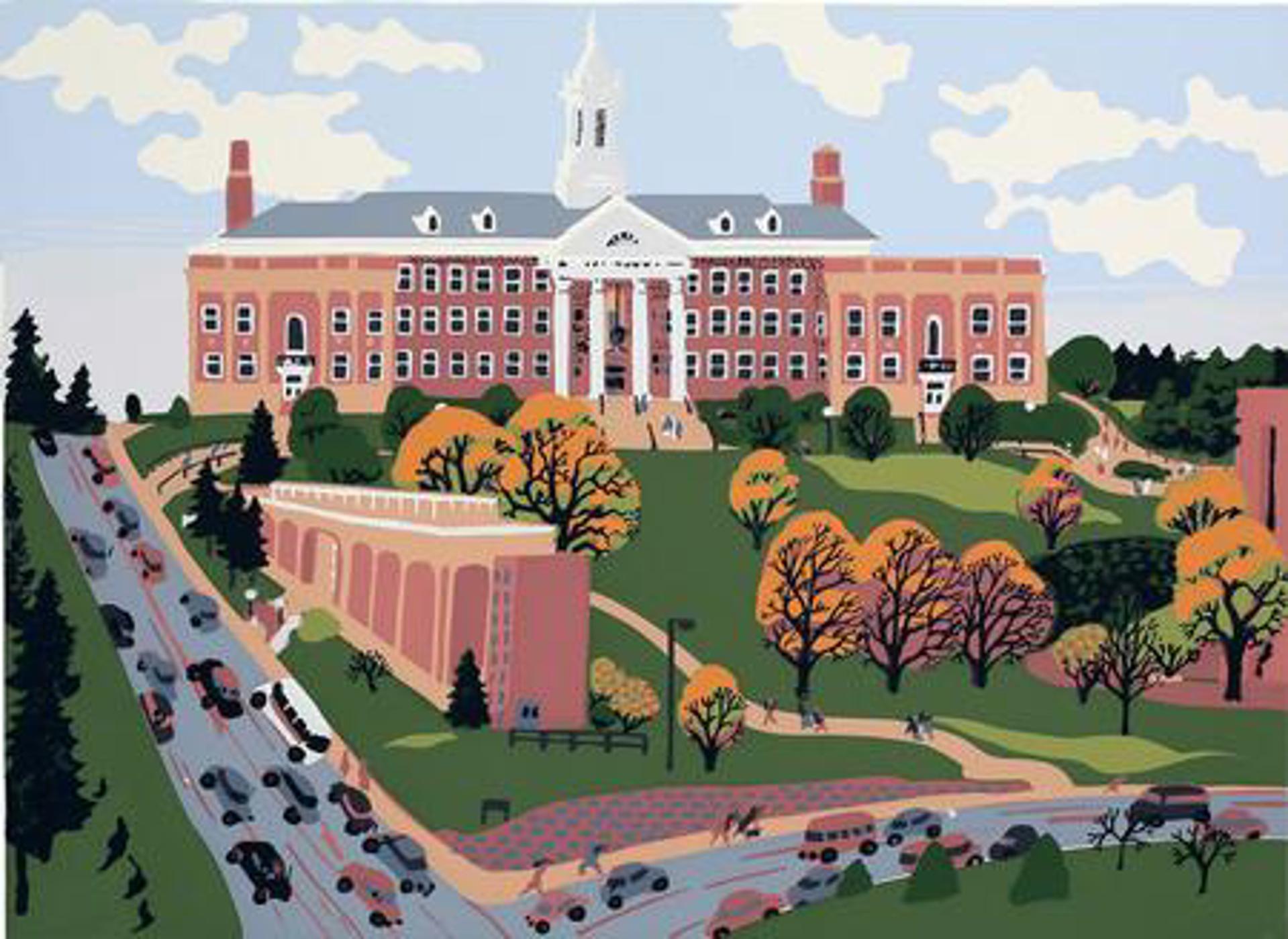 Warm October Day at University of Nebraska Omaha by Judith Welk