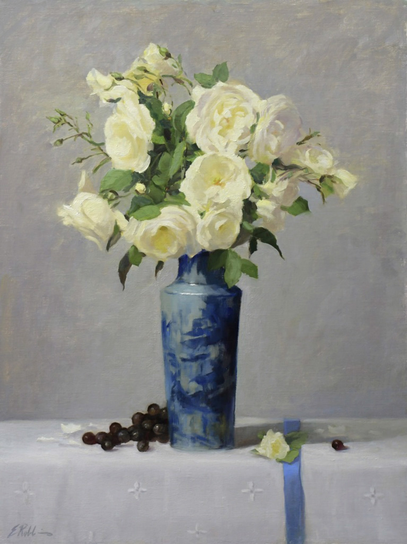 Iceberg Roses and Blue by Elizabeth Robbins