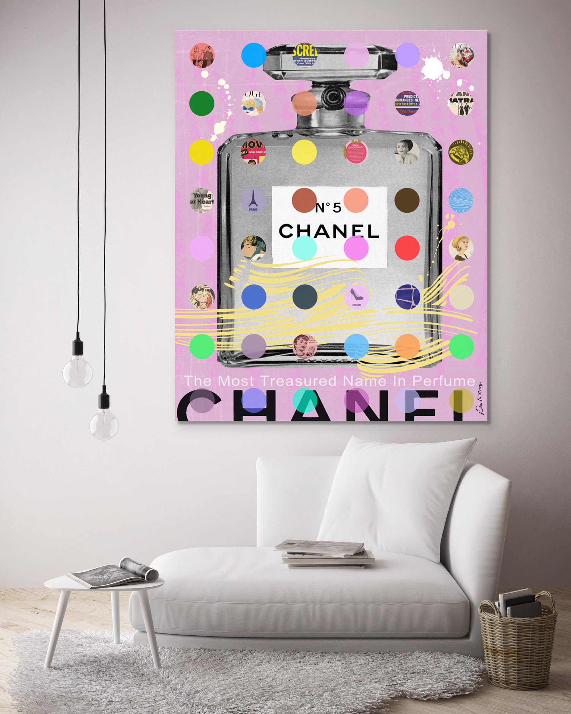Chanel #5 Pink with Gray Bottle by Nelson De La Nuez
