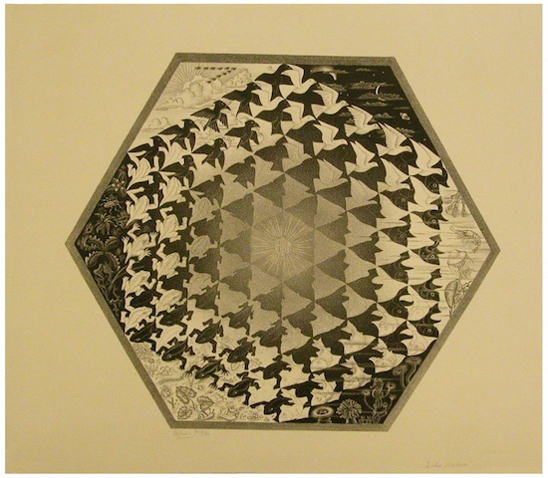 Verbum (Earth, Sky and Water) by M.C. Escher