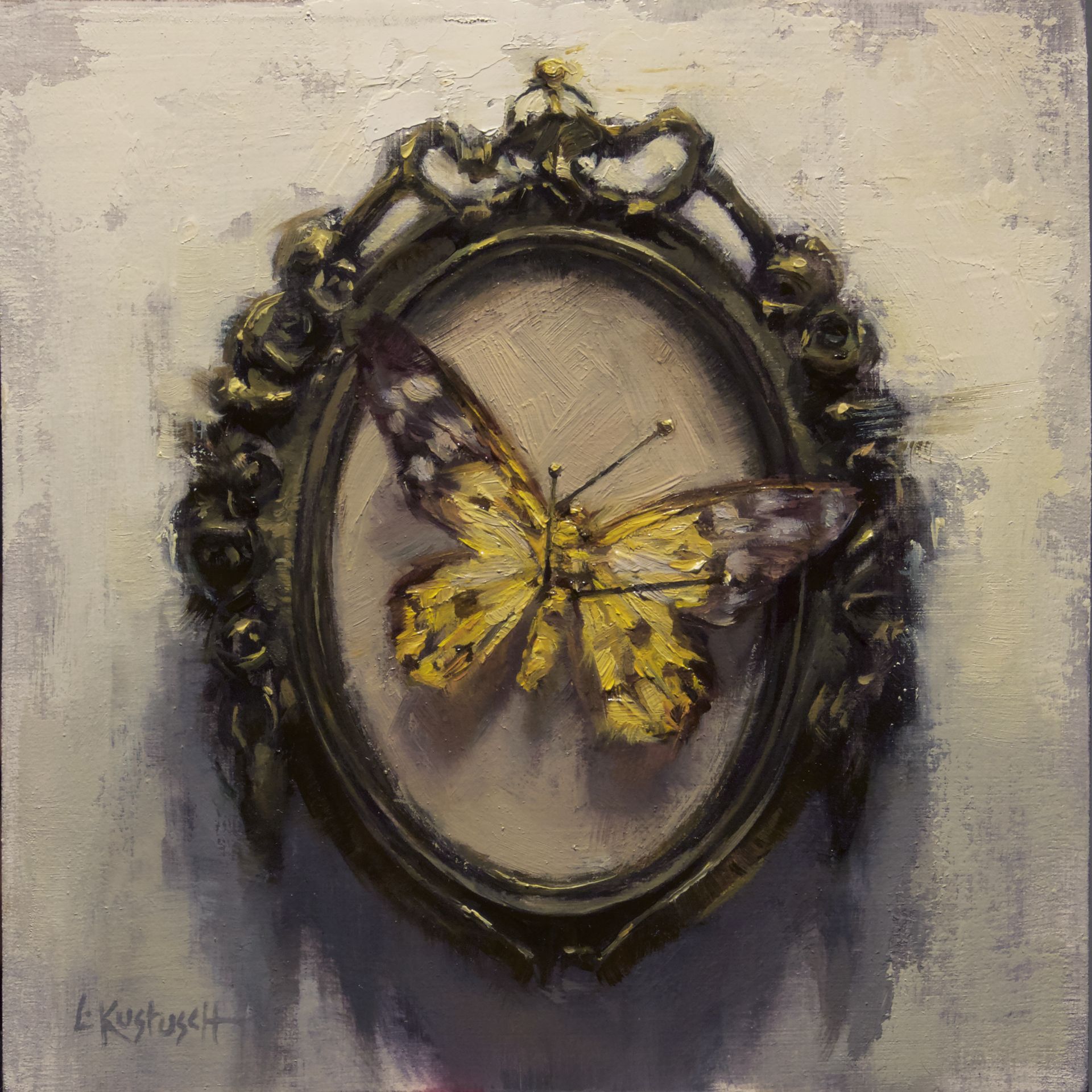 The Yellow Day Flying Moth by Lindsey Kustusch