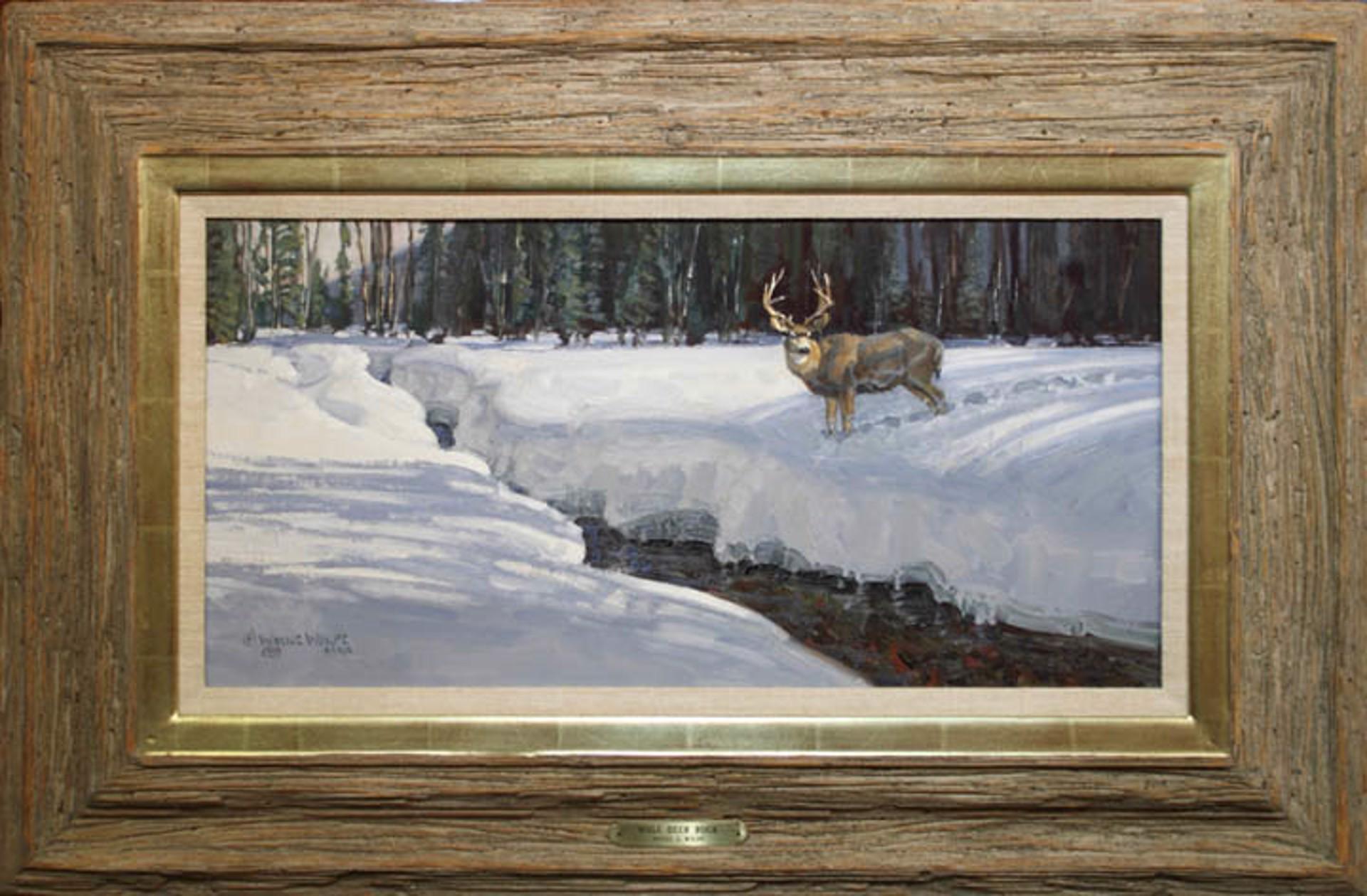 Mule Deer Buck (1989) by Wayne Wolfe