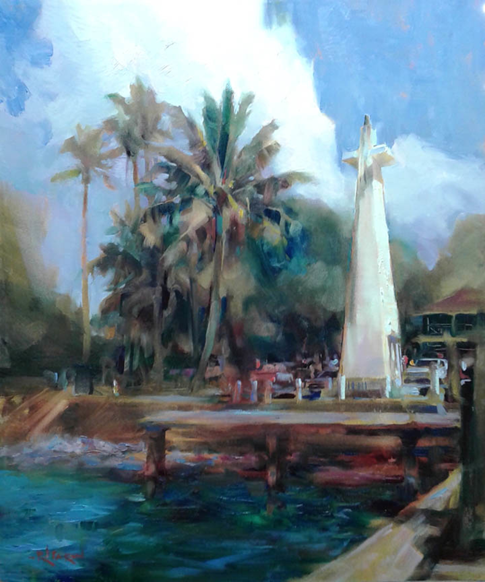 Lahaina Harbour by Rod Cameron