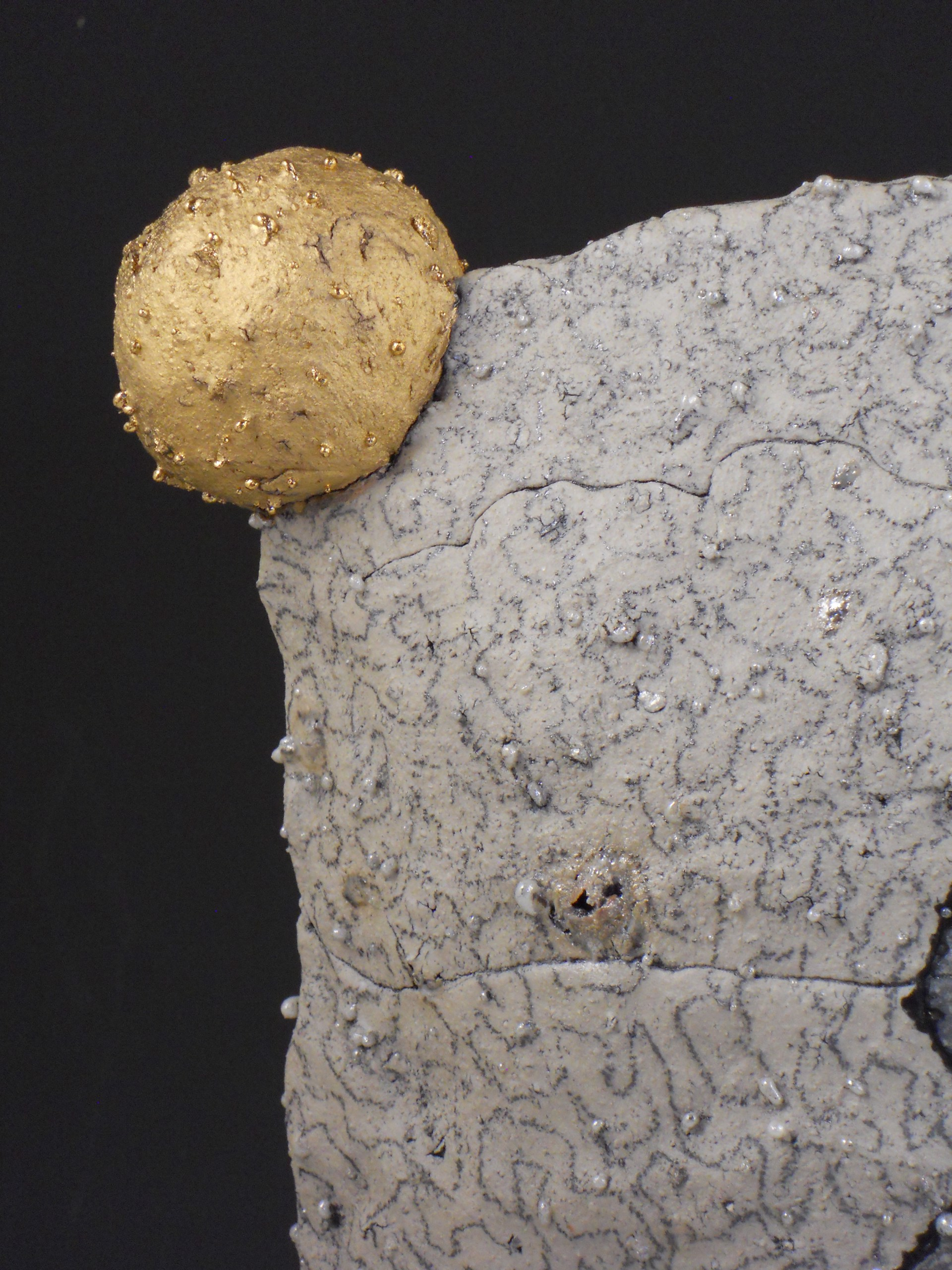 Girl with gold ball by Rimas VisGirda