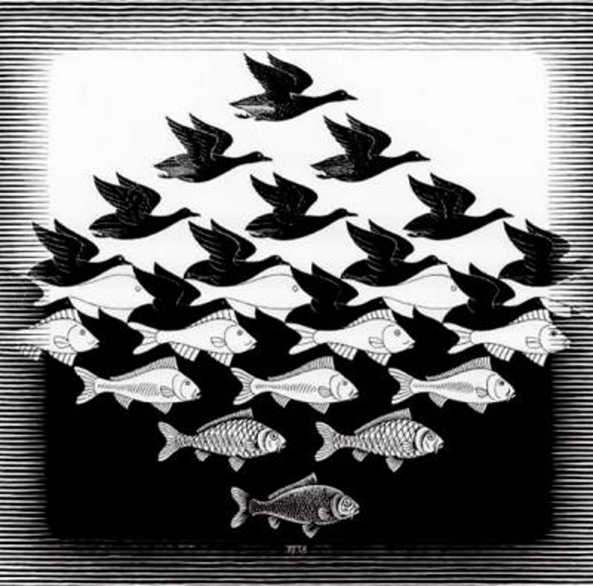 Sky and Water I by M.C. Escher
