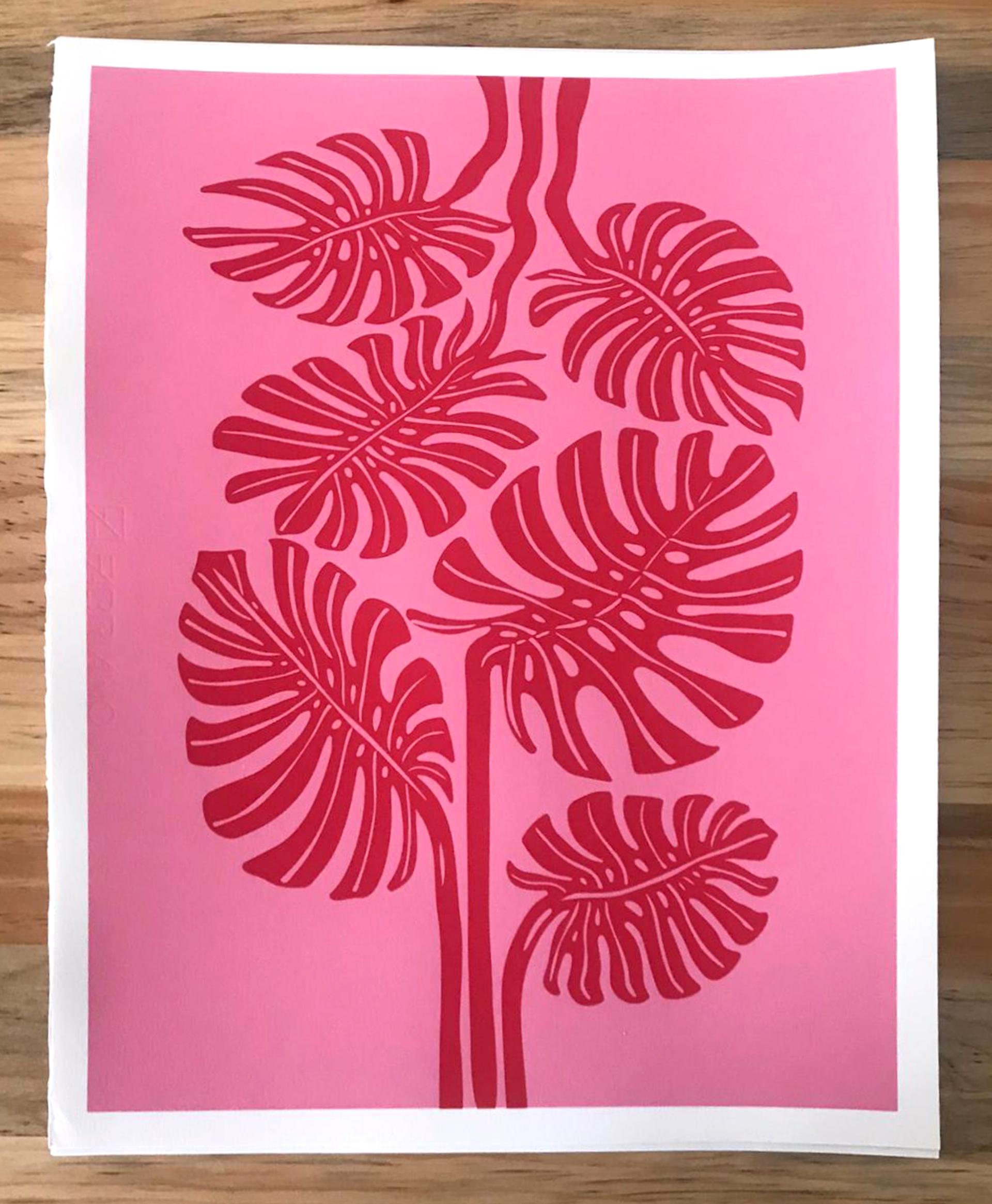 Monstera (Pink/Red) by Mirel Fraga