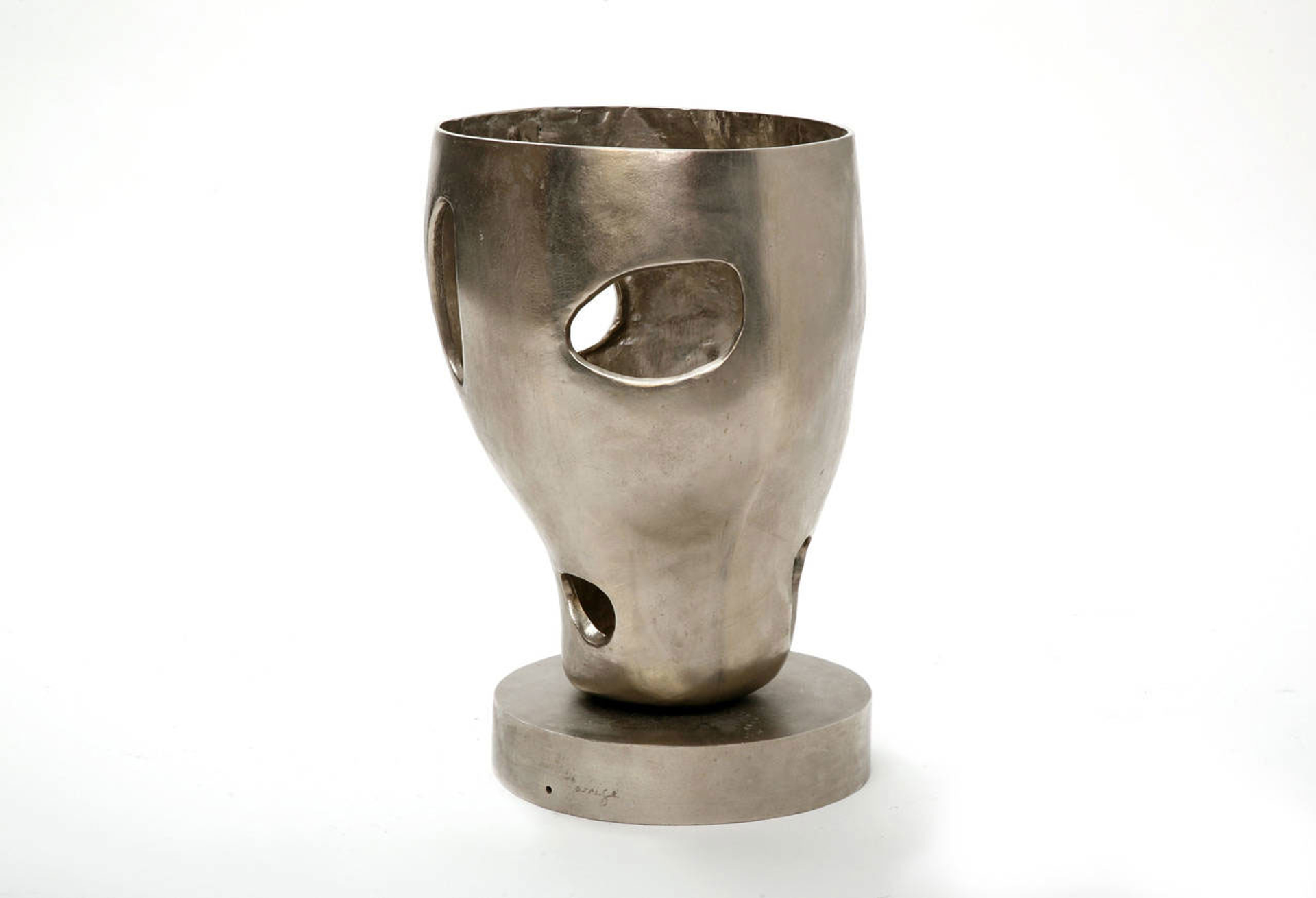 """""""Torquemada"""" Silver lamp  by Jacques Jarrige"""