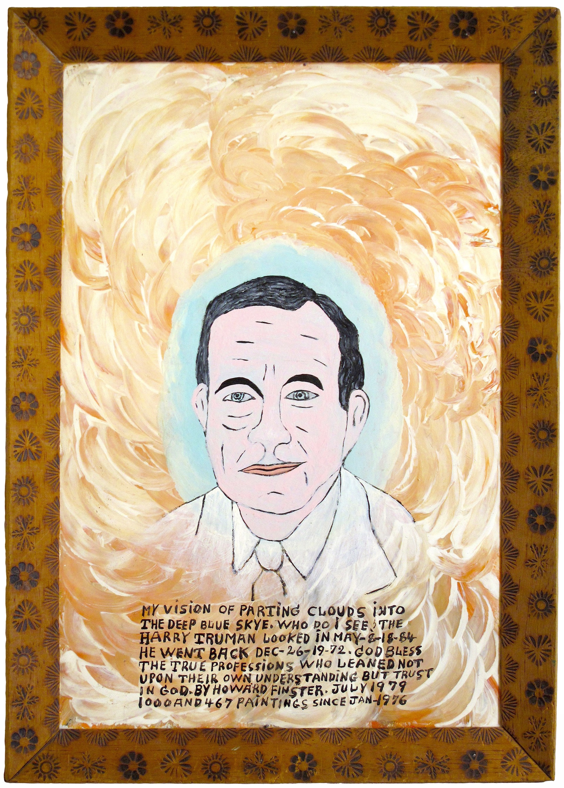 President Harry Truman by Howard Finster
