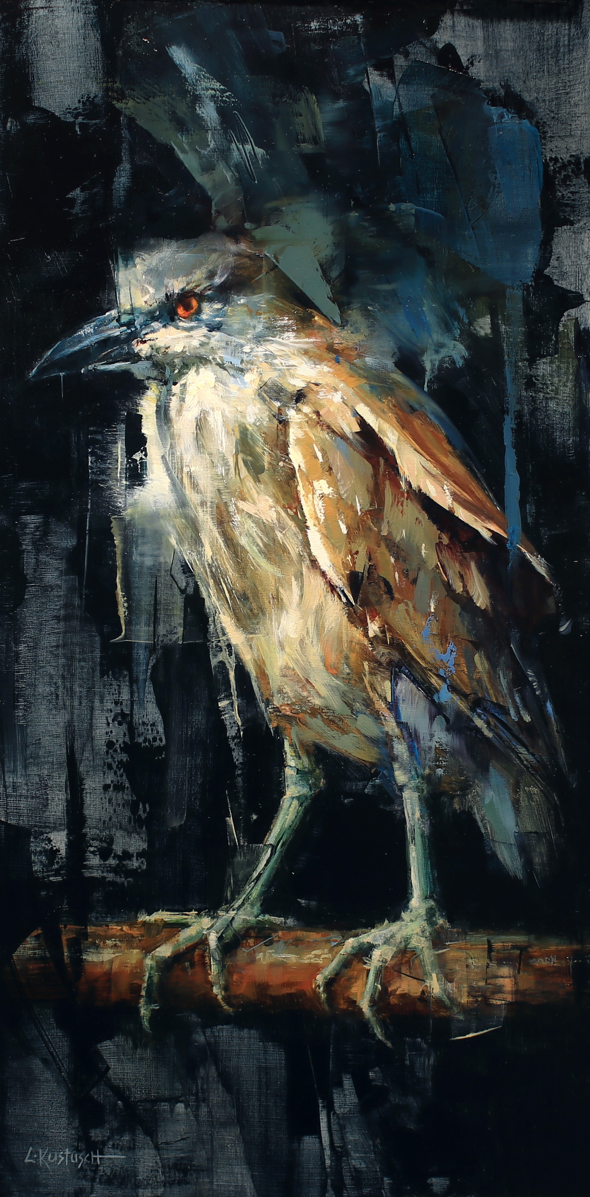 The Night Heron by Lindsey Kustusch