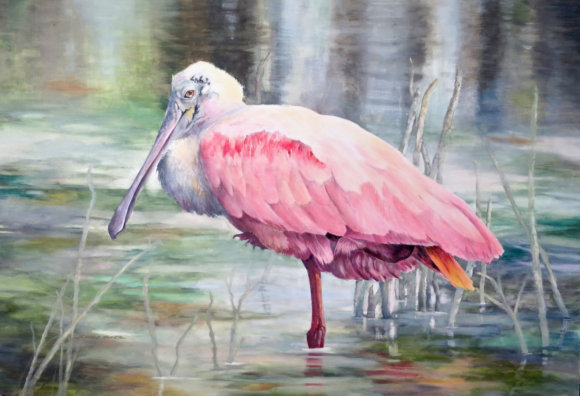 Roseate Spoonbill by Sherry Egger