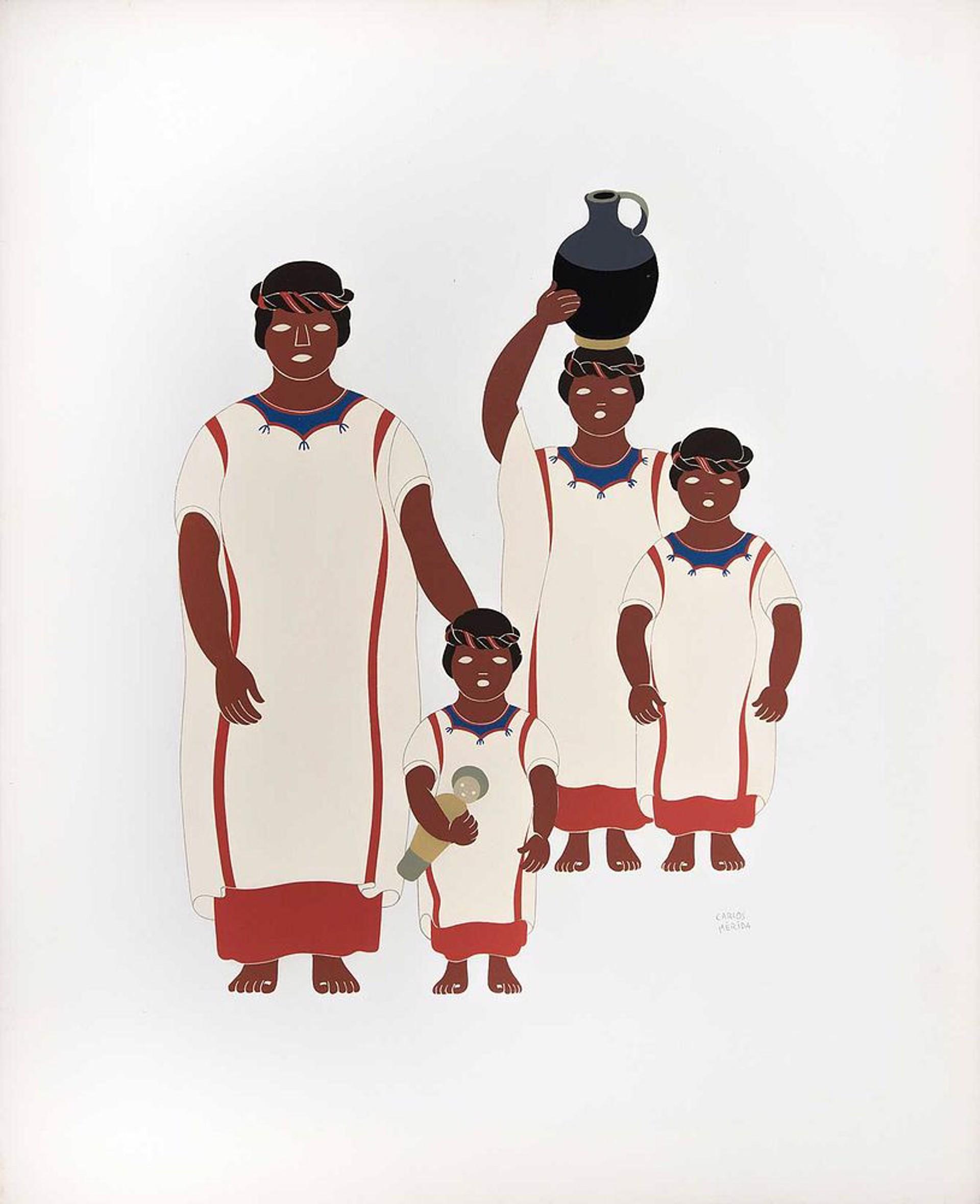 Ozumazins of the State of Oaxaca by Carlos Mérida (1891 - 1985)