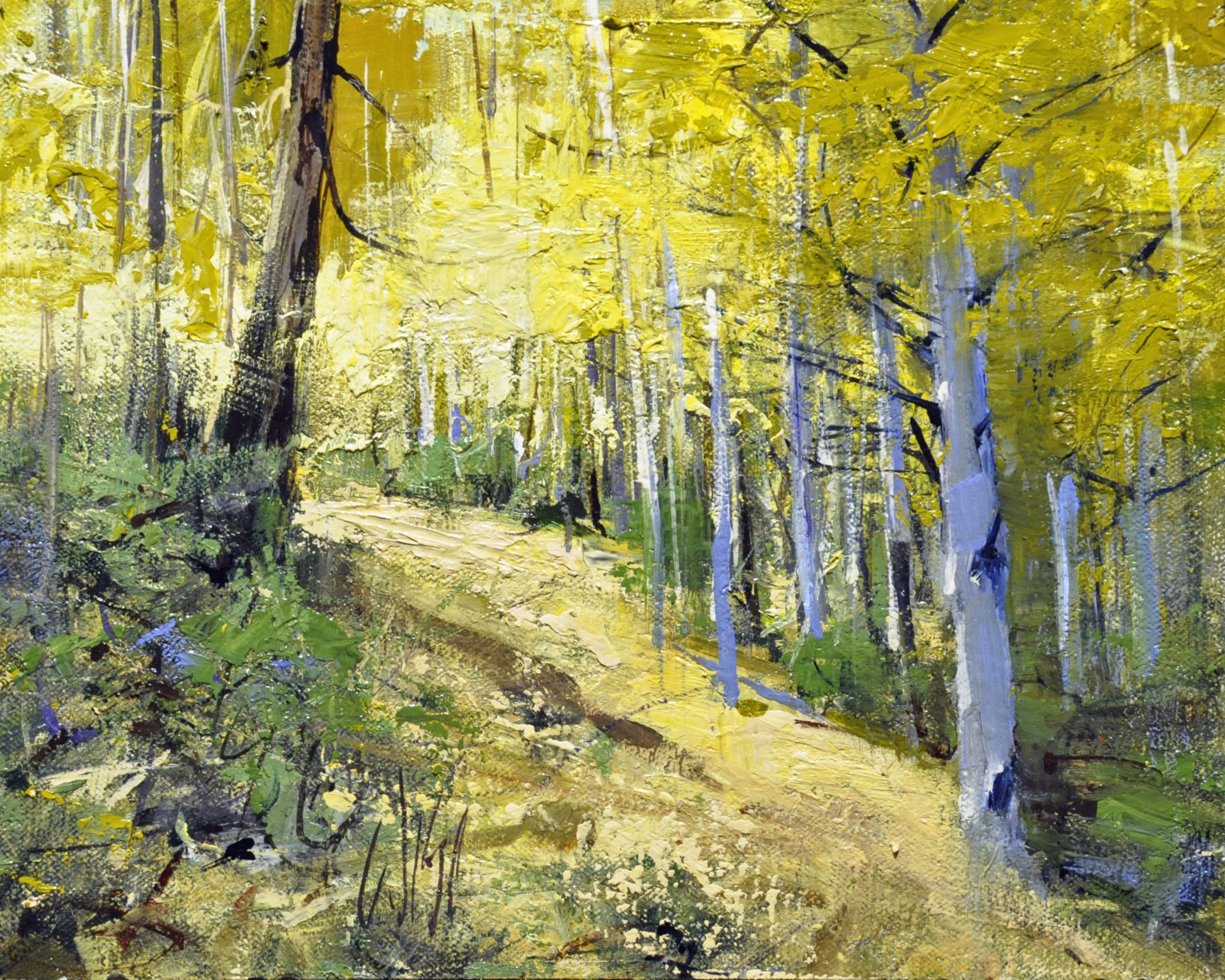 Yellow Woods III by Mike Wise