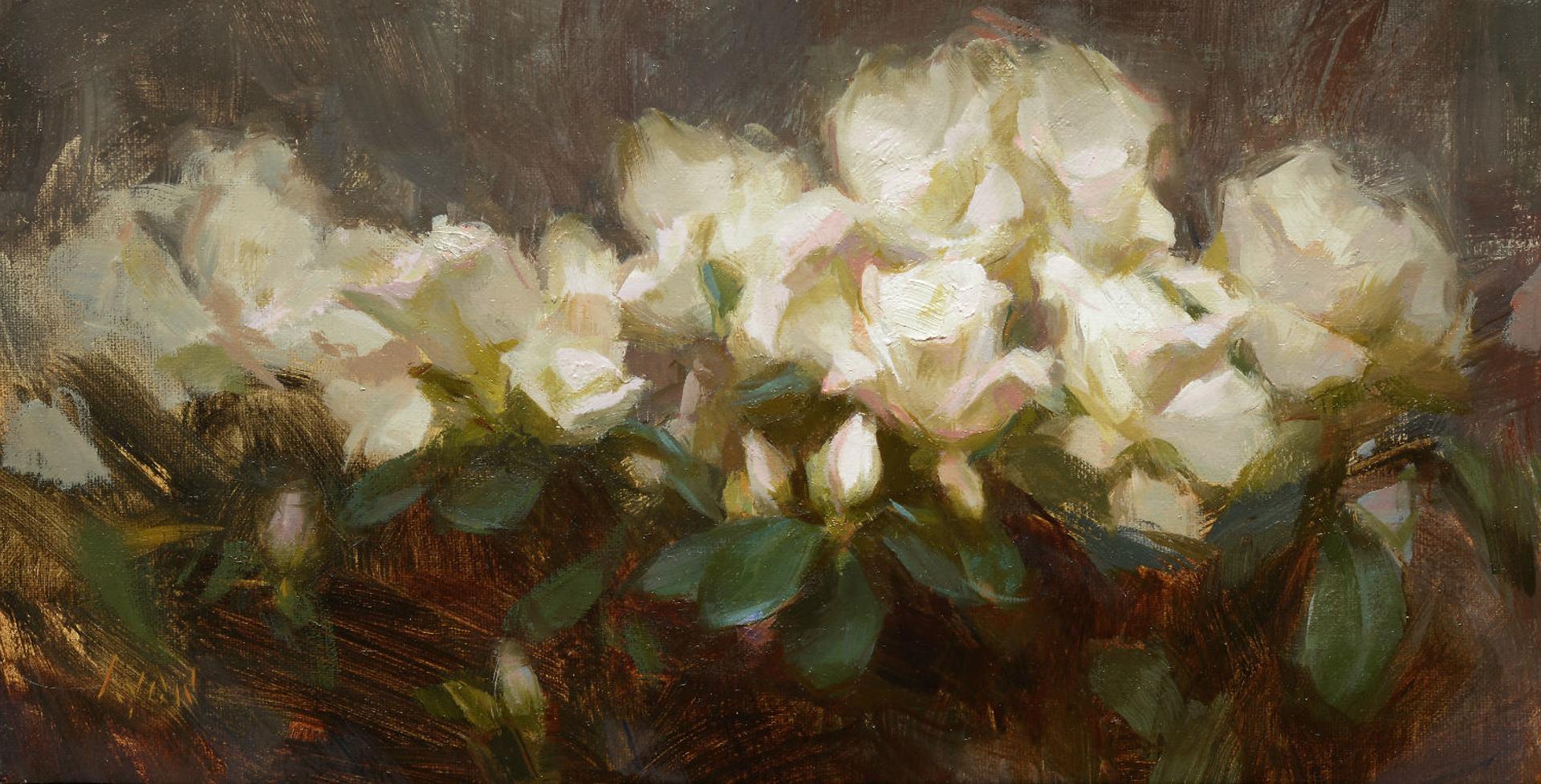 White Azaleas by Susan Lyon