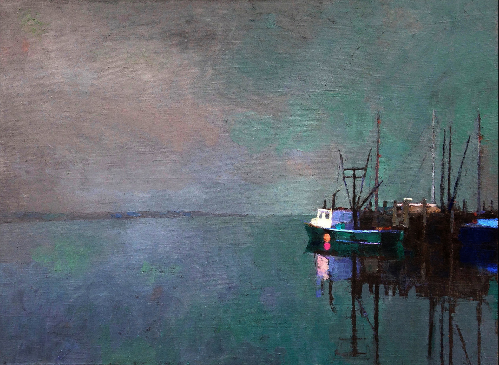Wharf in Fog by Larry Horowitz