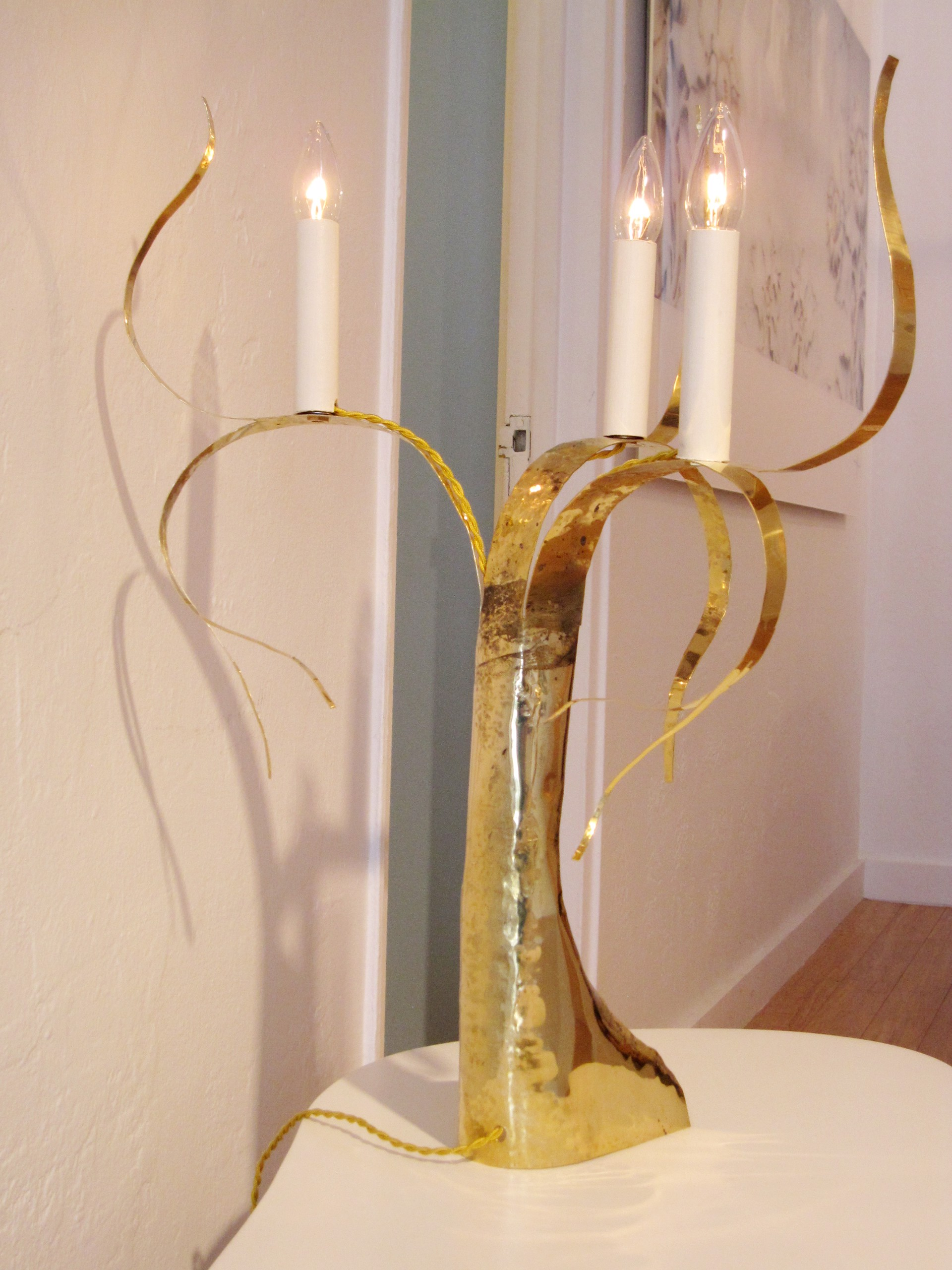 """Fiori"" Table lamp by Jacques Jarrige"