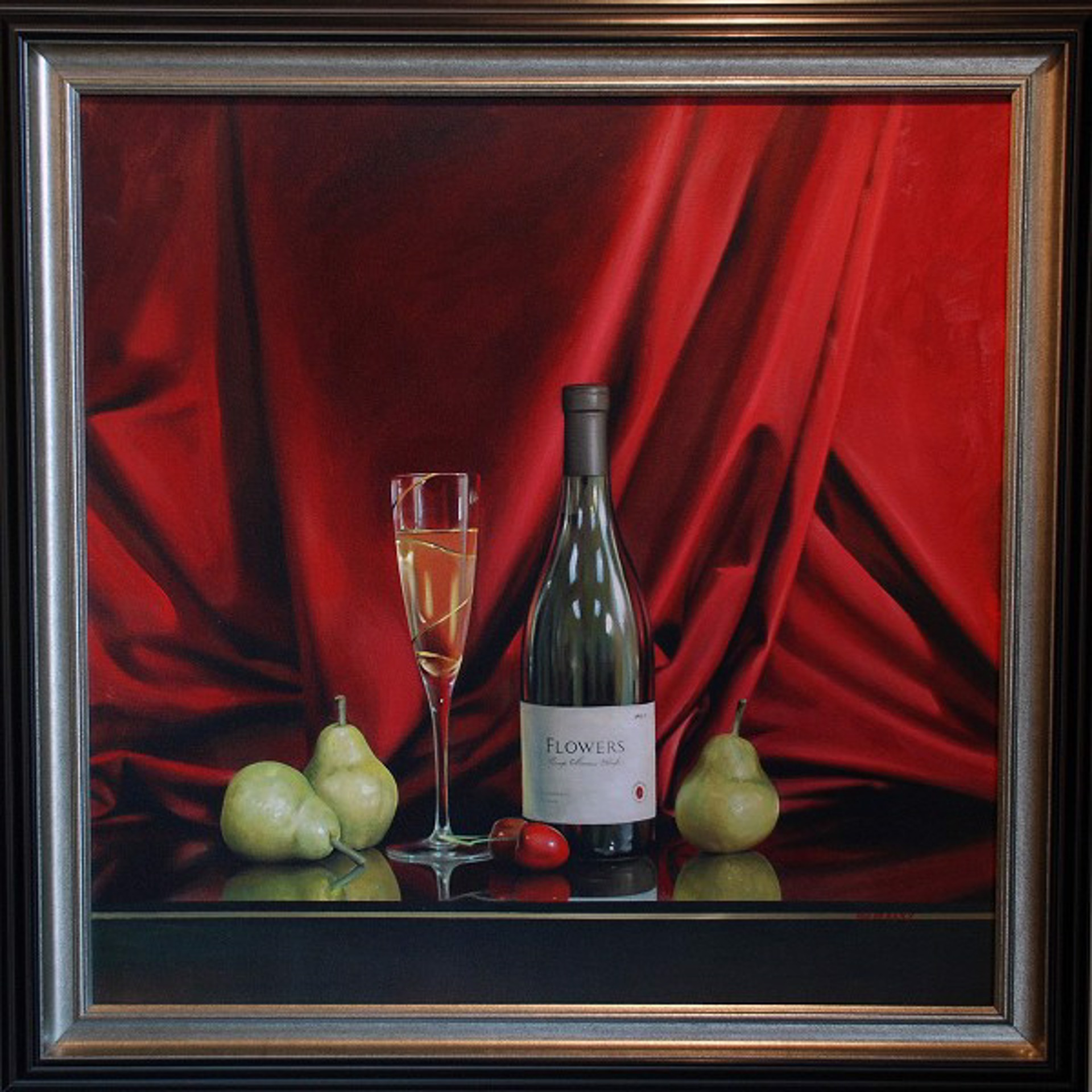 Champagne and Pears by Alexander Sheversky