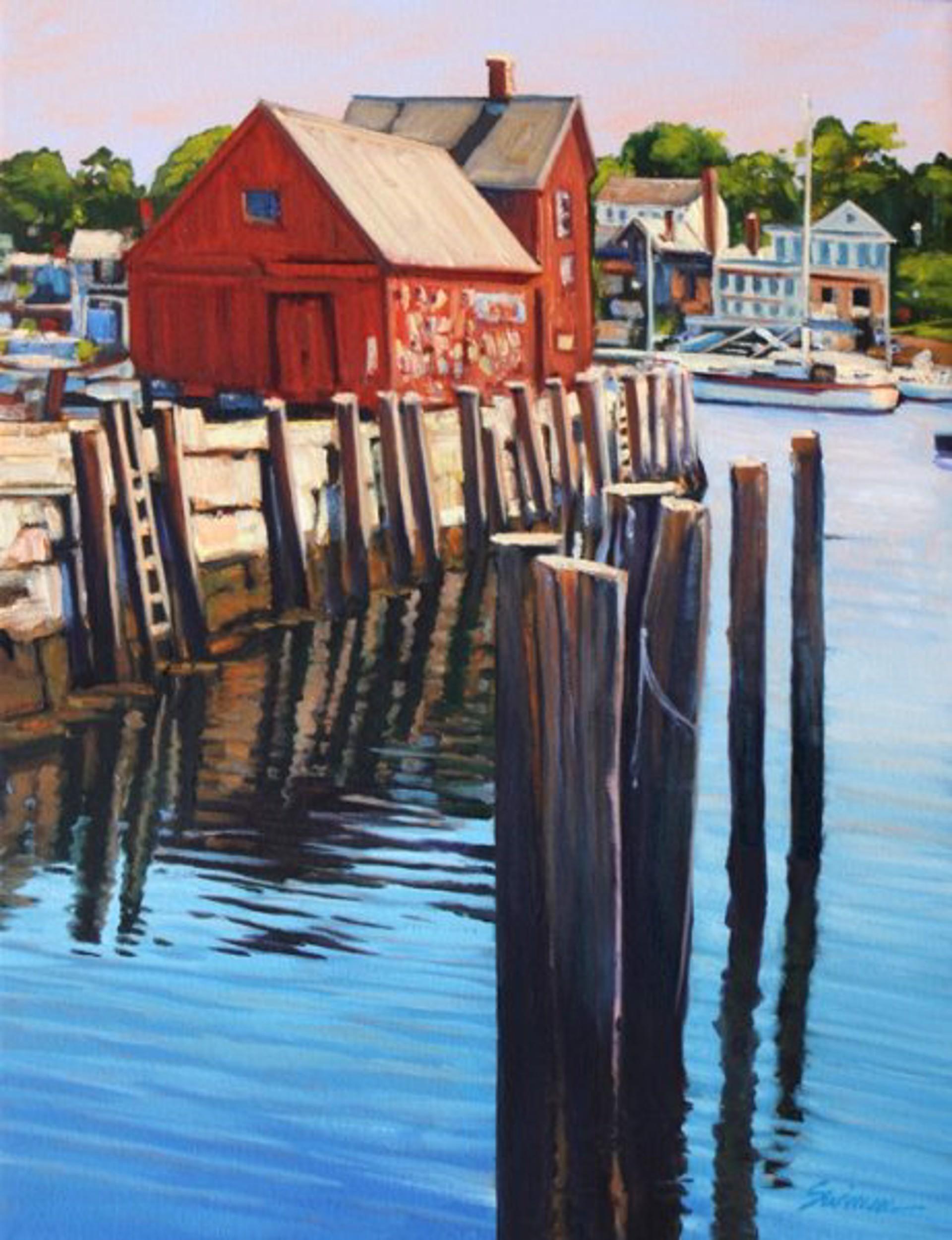 Sunlight On The Docks by Tom Swimm