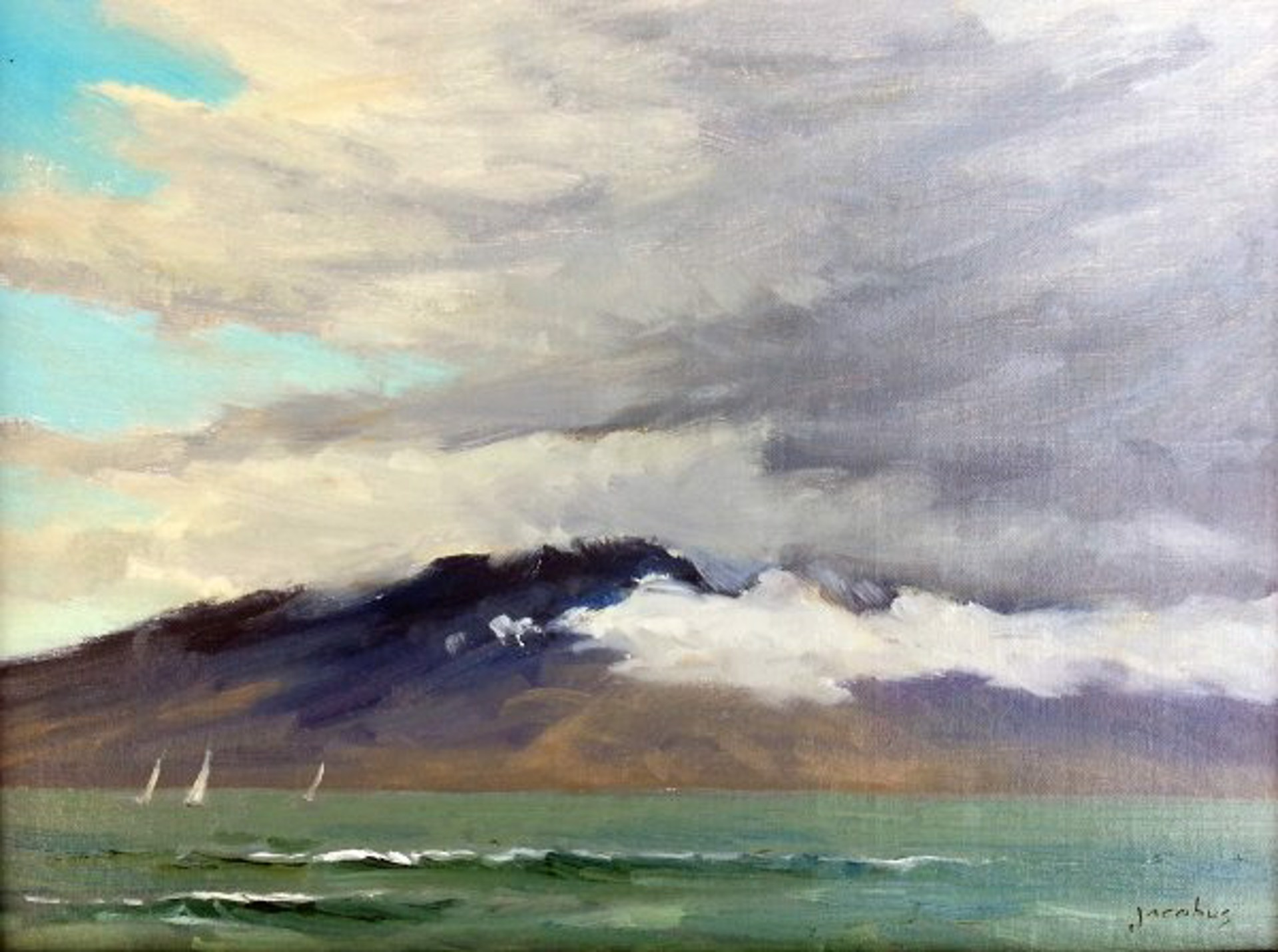 Clouds Over Lanai by Jacobus Baas