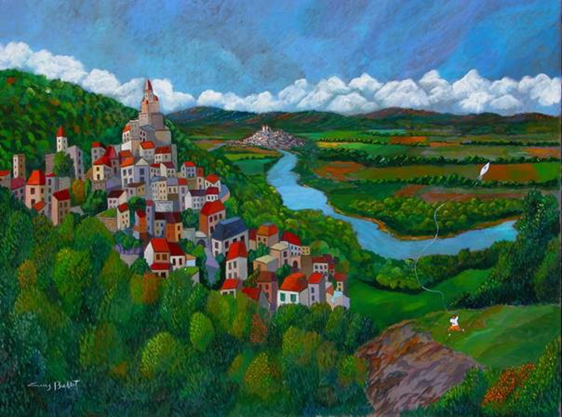 Dordogne Valley; Last Day Of Summer by Guy Buffet