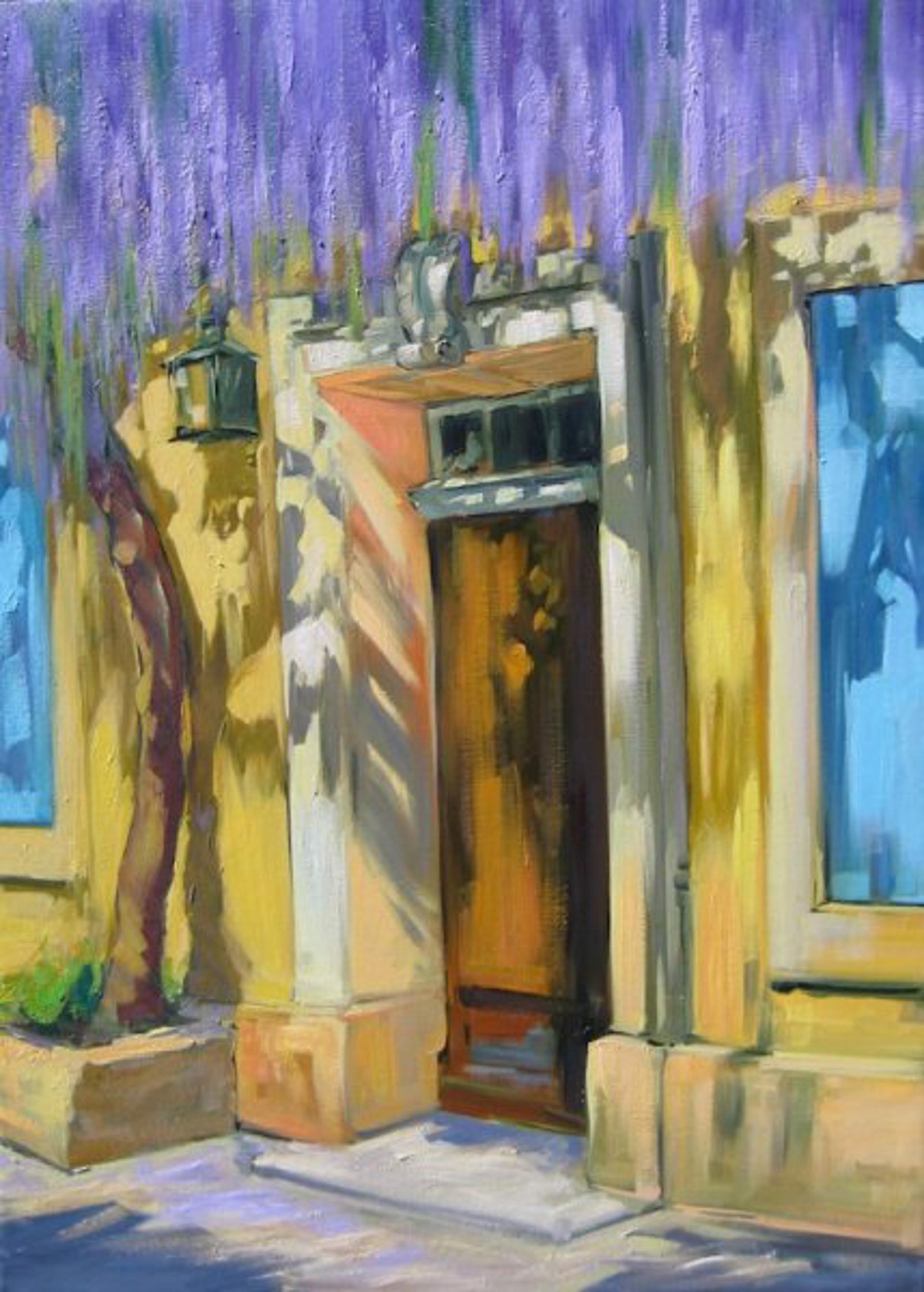 Bertran: Cascading Wisteria Over The Doorway by Maria Bertrán