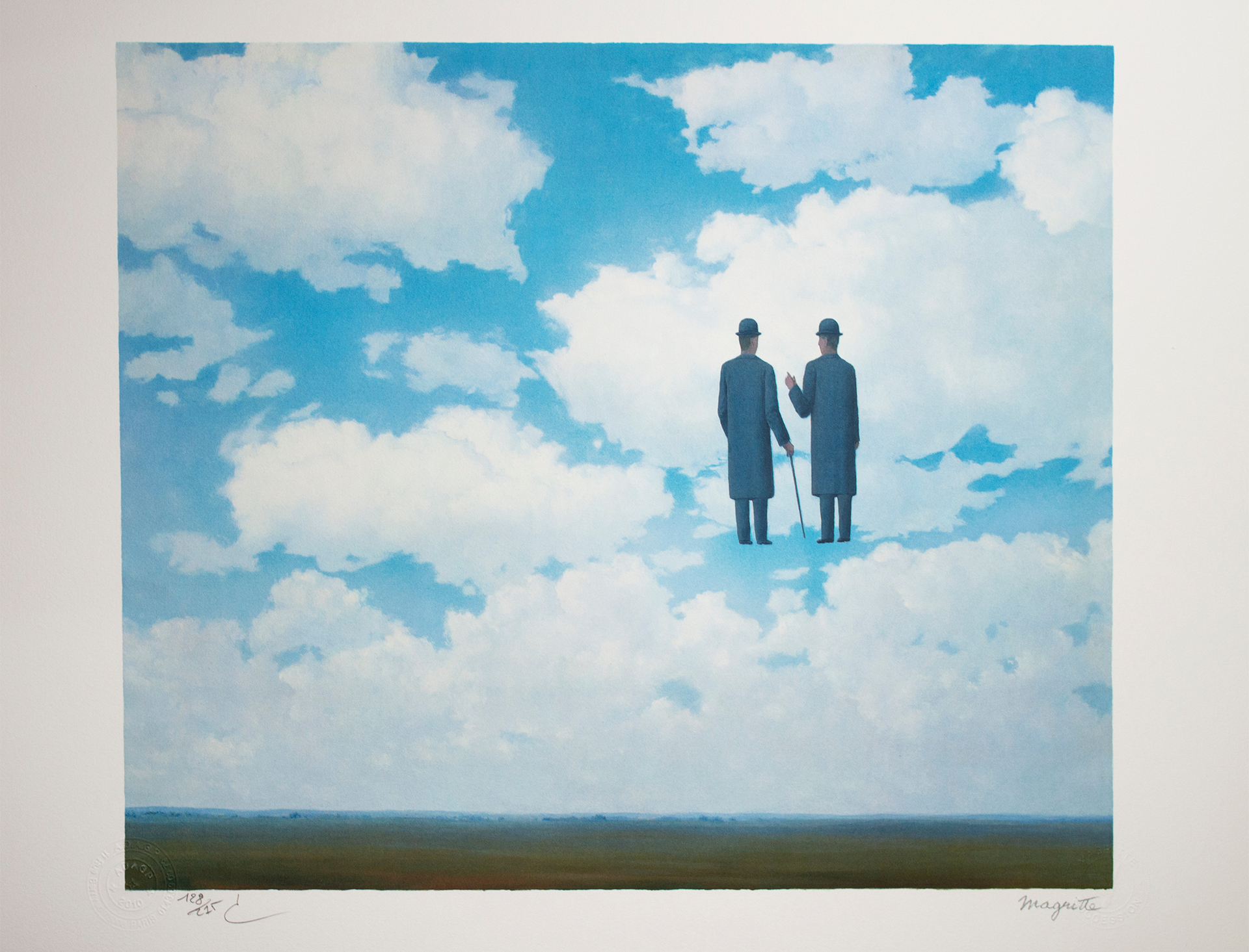 La Reconnaissance infinie (The Infinite Recognition) by Rene Magritte