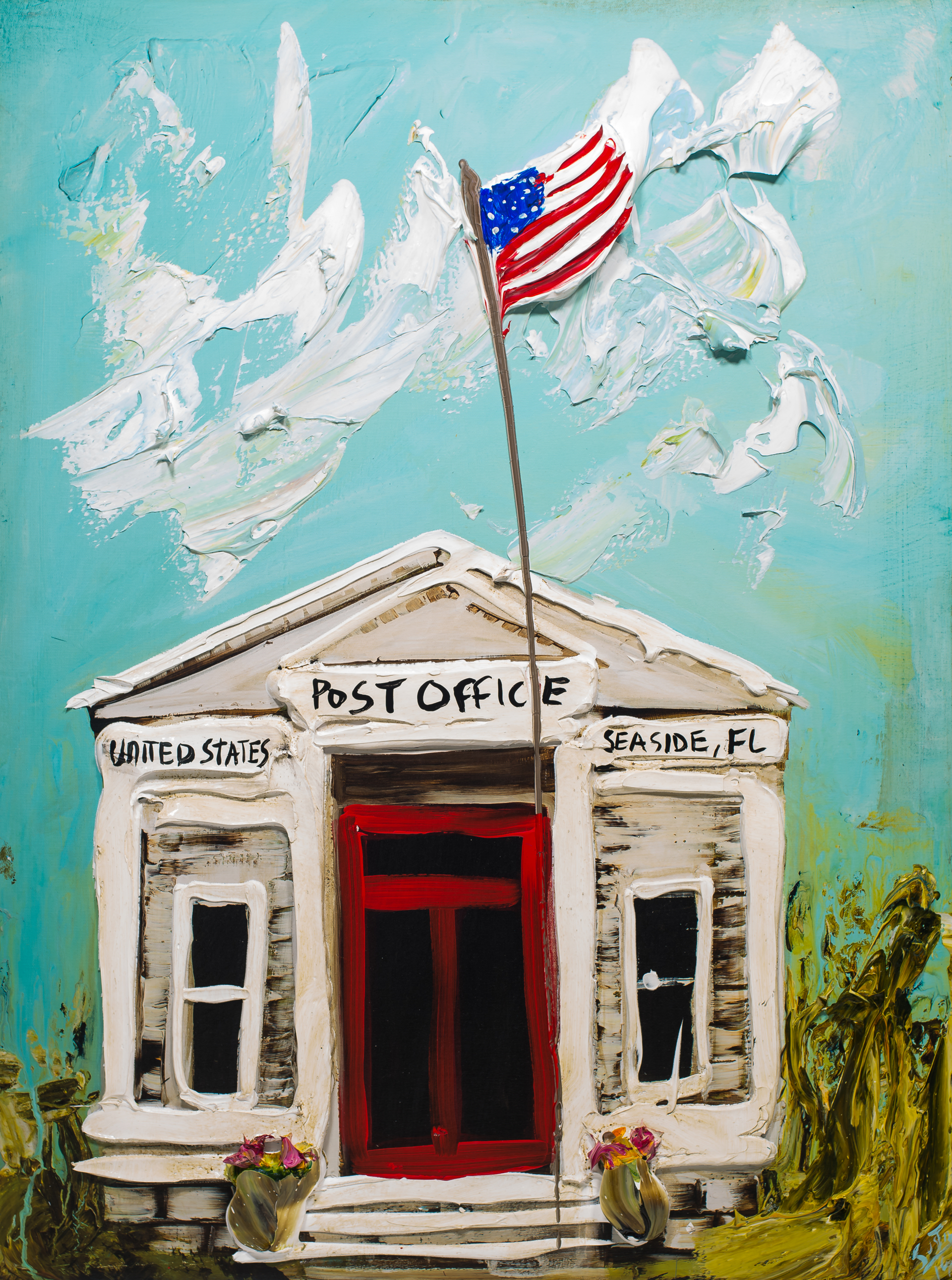 SEASIDE POST OFFICE HPAE 8/50 by JUSTIN GAFFREY