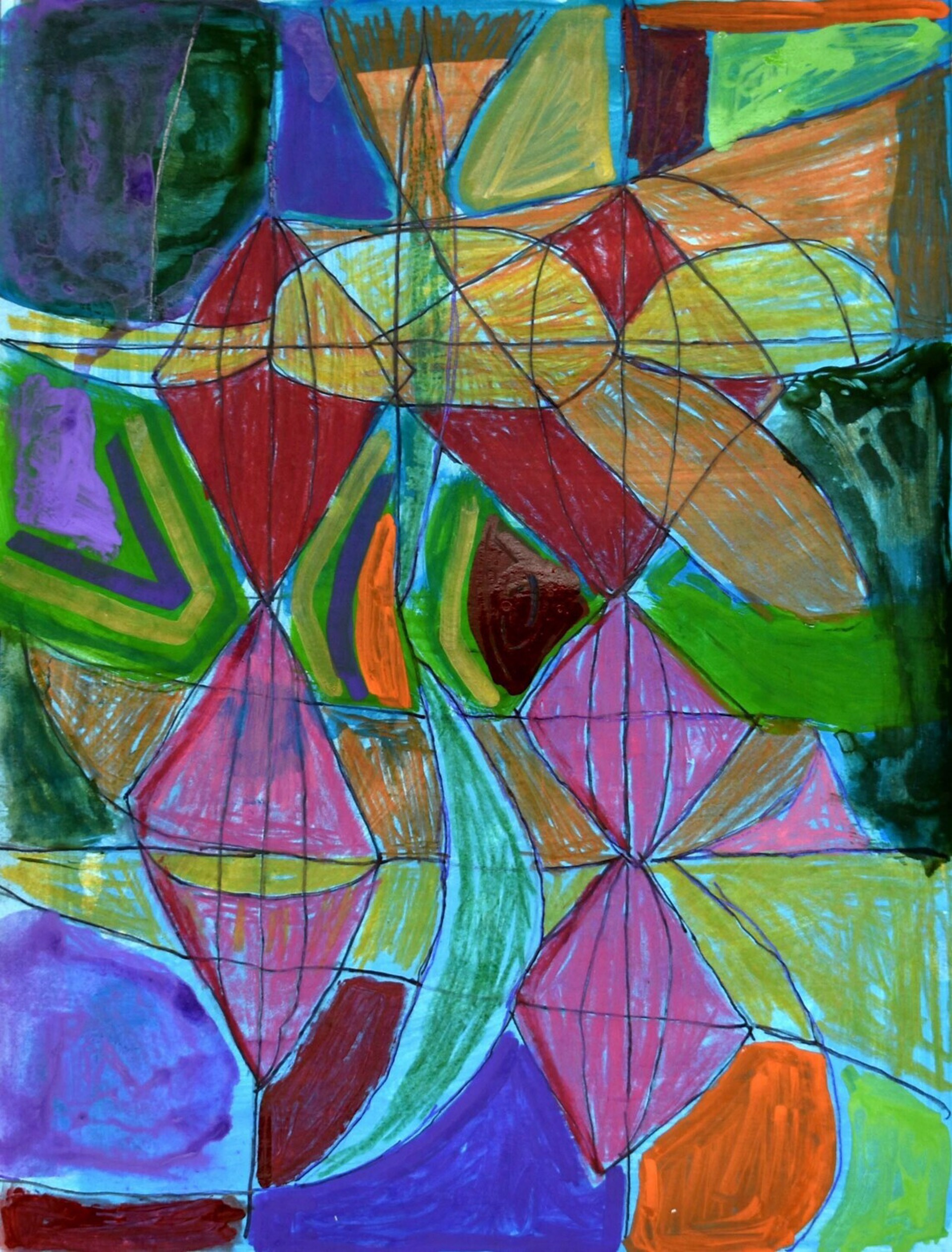 Zach Manuel - Abstract Diamonds by Visiting Artist