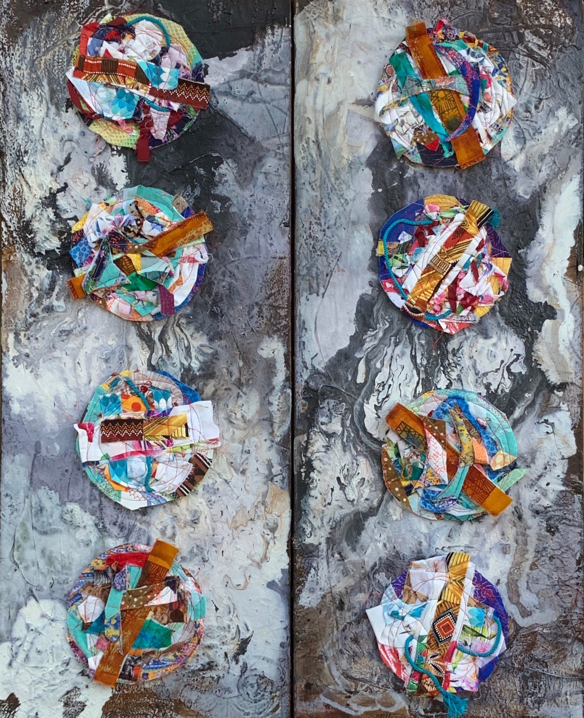 Worlds (2 Panel) by Jennifer Blalack