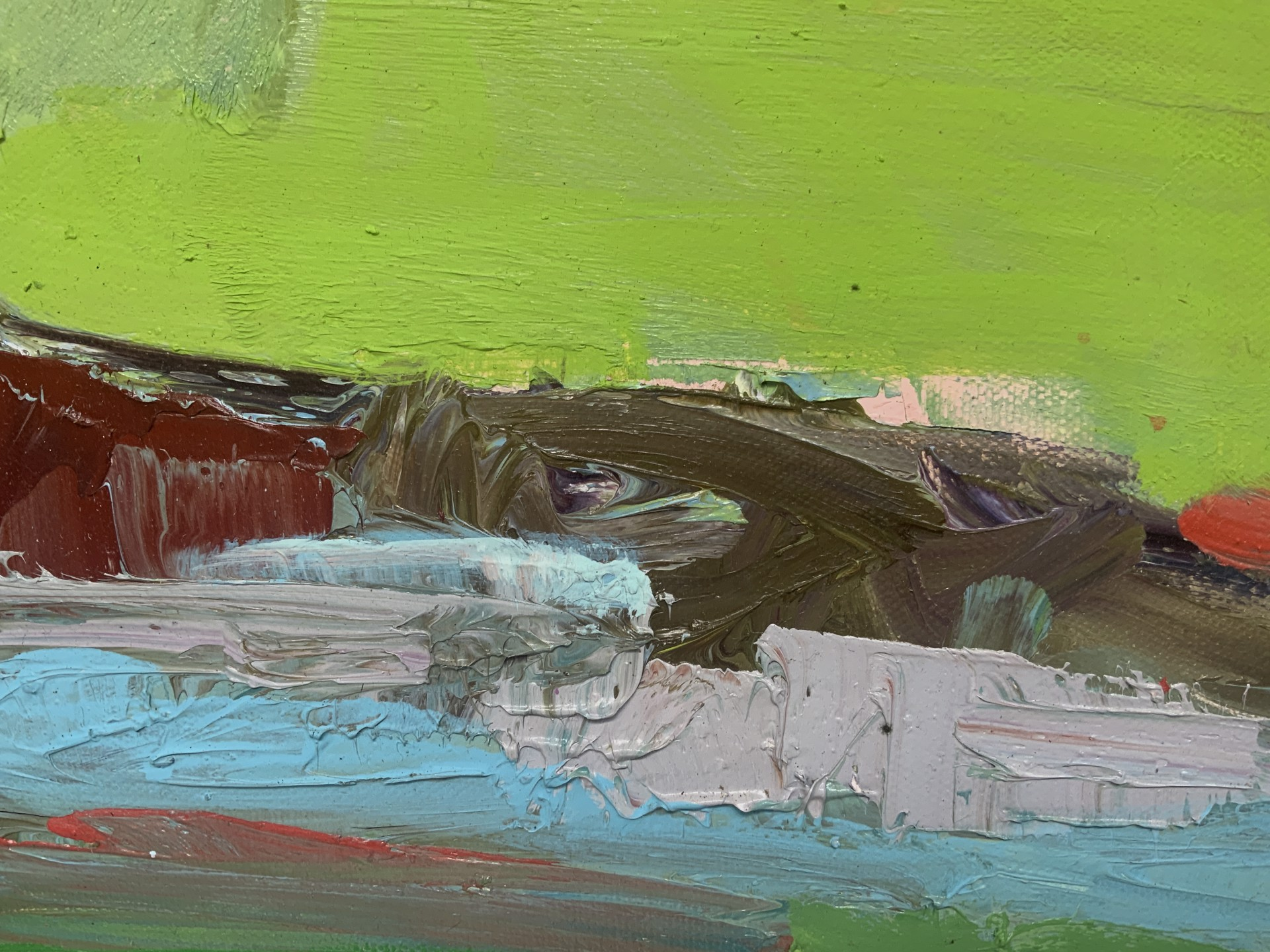 1.5 Hr Demo from Elk River Club House, Abstracted Landscape by stevenpage prewitt